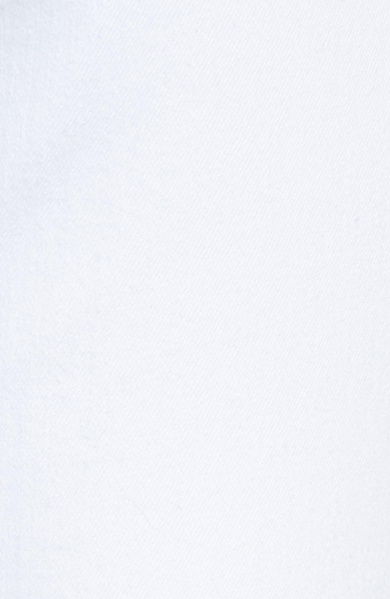 AG, Jodi High Waist Crop Jeans, Alternate thumbnail 6, color, WHITE