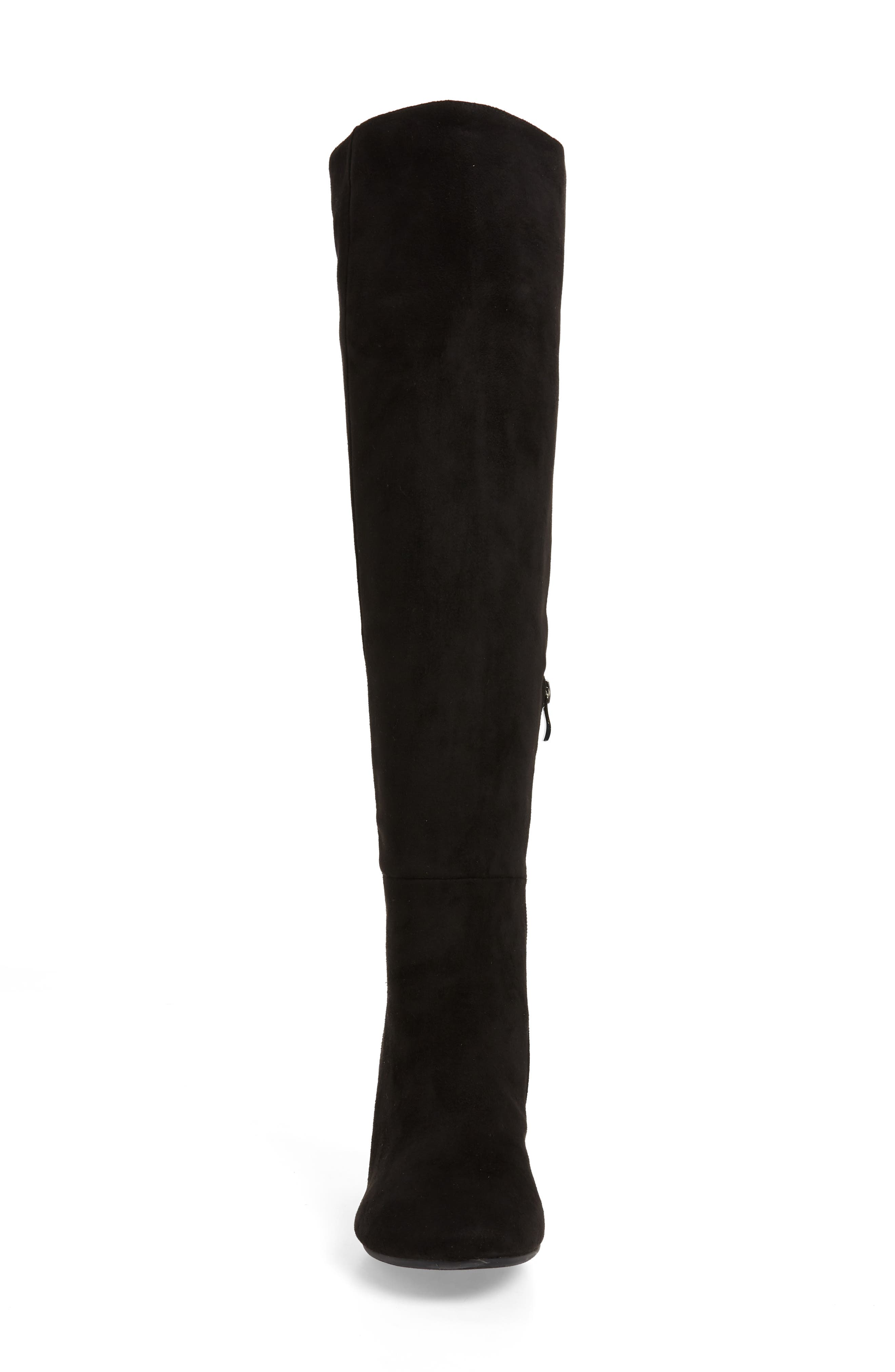 SBICCA, Ellaria Over the Knee Boot, Alternate thumbnail 4, color, BLACK FABRIC