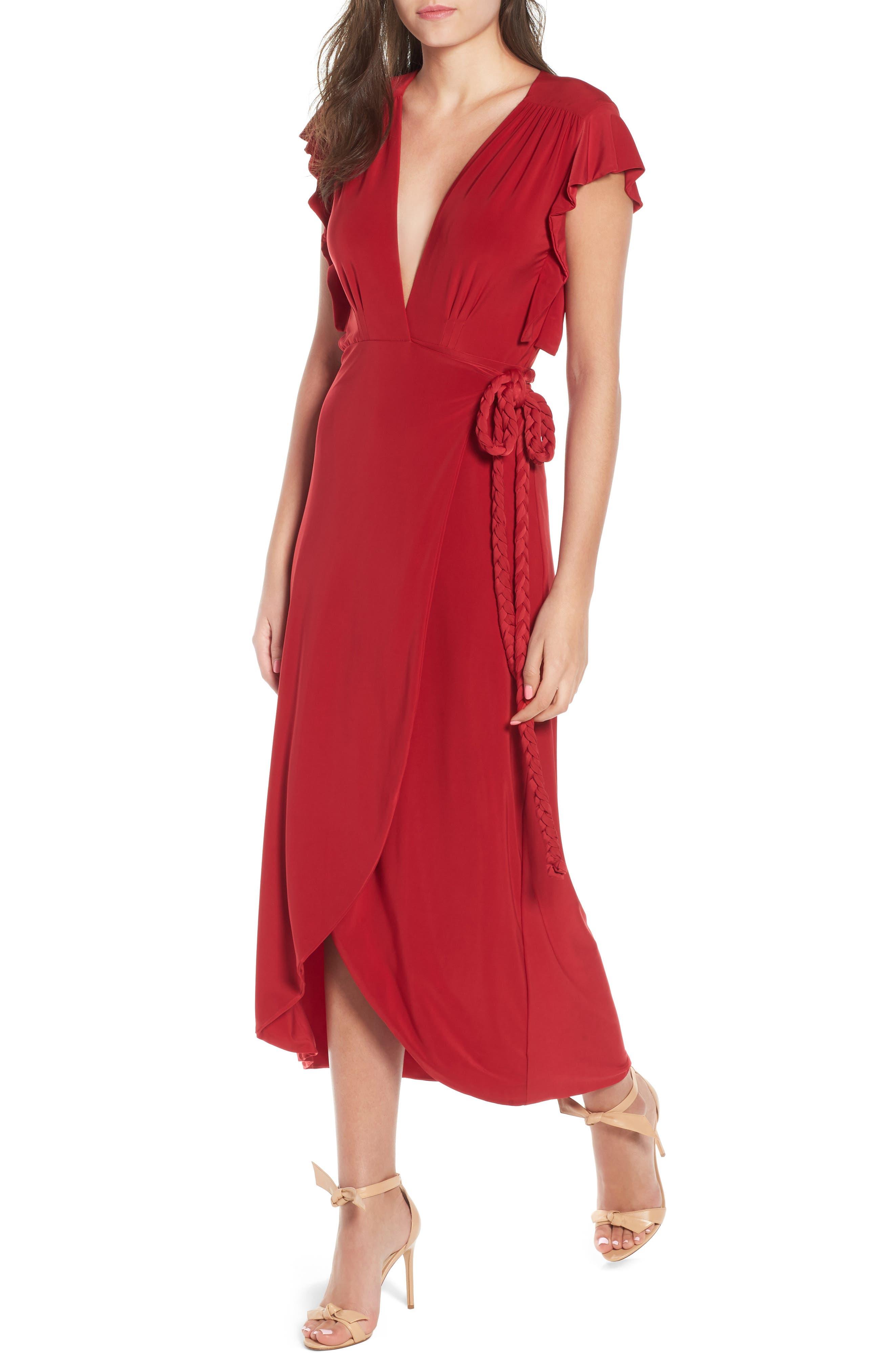MISA LOS ANGELES Irina Dress, Main, color, RED