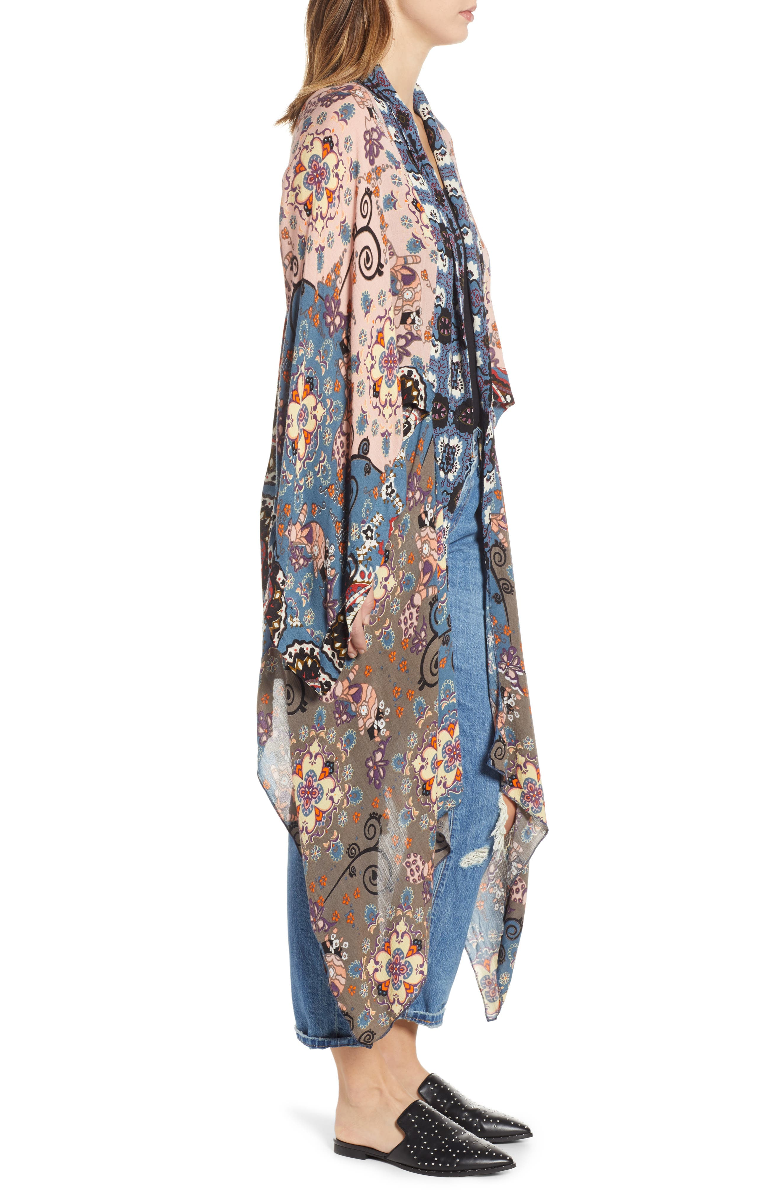FREE PEOPLE, Little Wing Kimono, Alternate thumbnail 3, color, 005