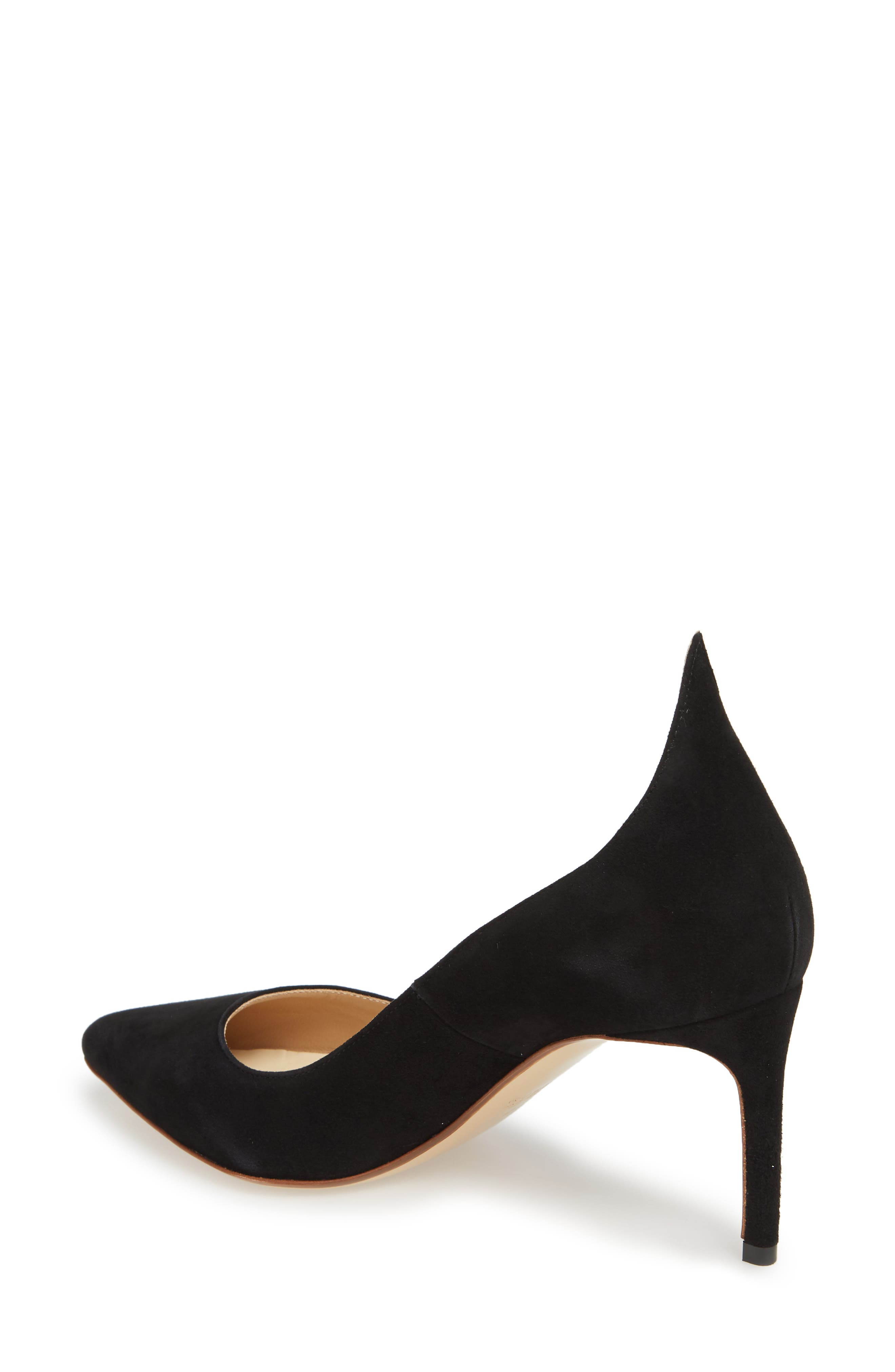 FRANCESCO RUSSO, Flame Pointy Toe Pump, Alternate thumbnail 2, color, BLACK
