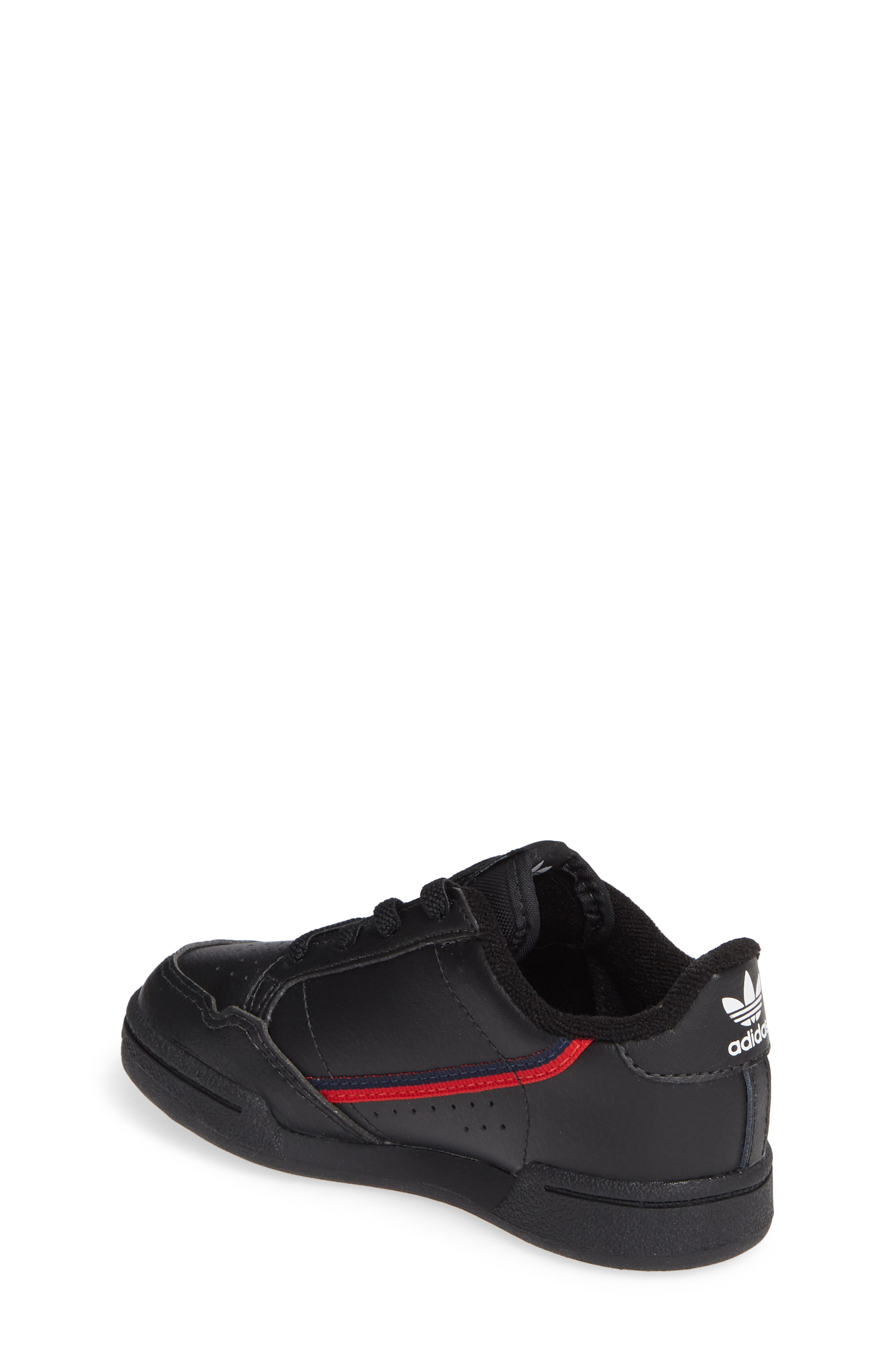 ADIDAS, Continental 80 Sneaker, Alternate thumbnail 2, color, CORE BLACK/ SCARLET/ NAVY