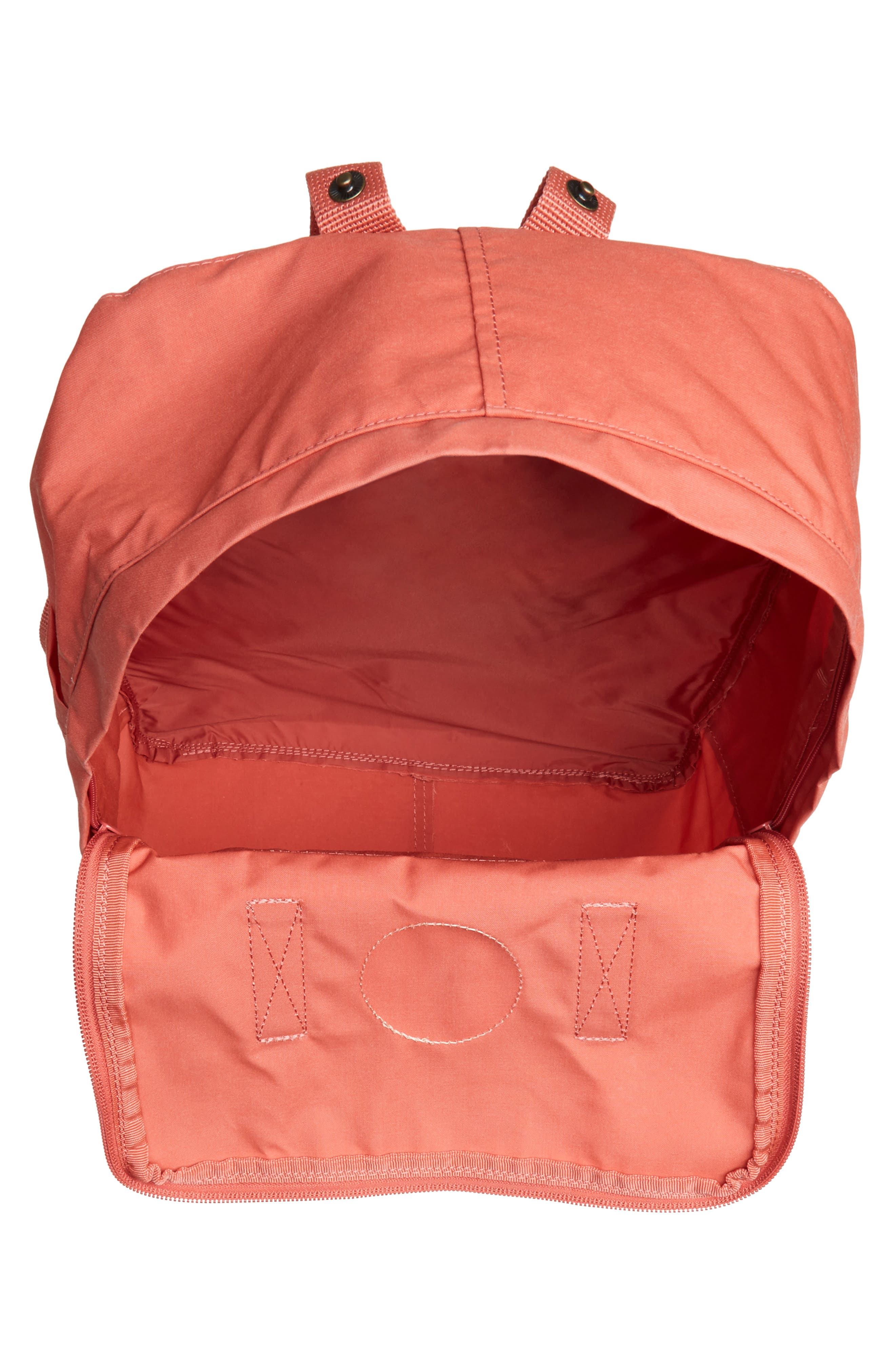 FJÄLLRÄVEN, Kånken Water Resistant Backpack, Alternate thumbnail 5, color, DAHLIA