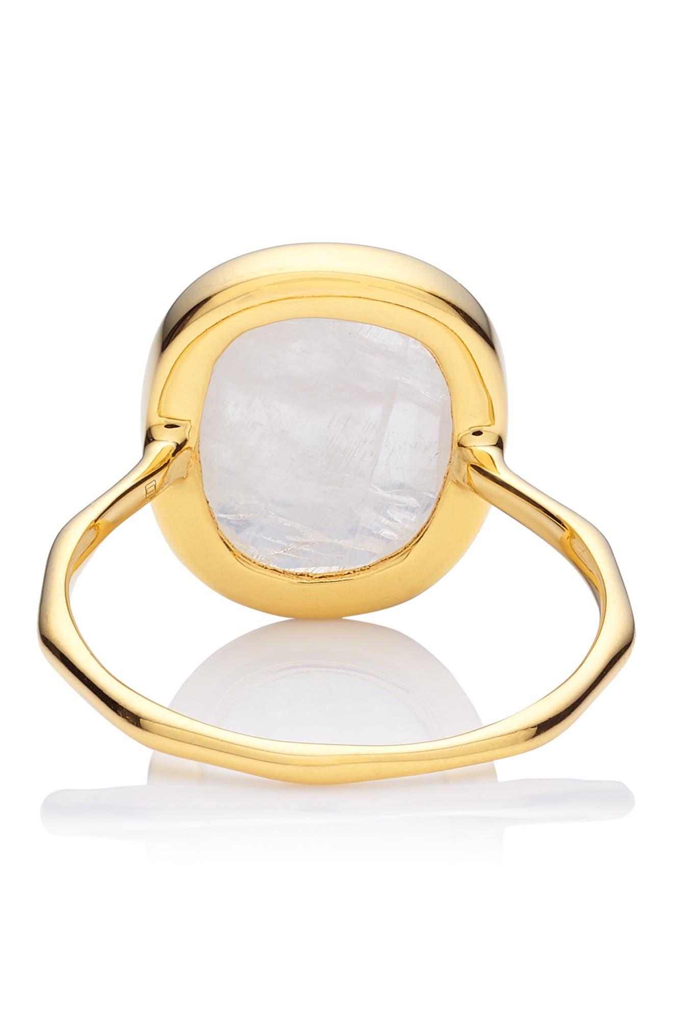 MONICA VINADER, Siren Semiprecious Stone Ring, Alternate thumbnail 3, color, GOLD/ MOONSTONE