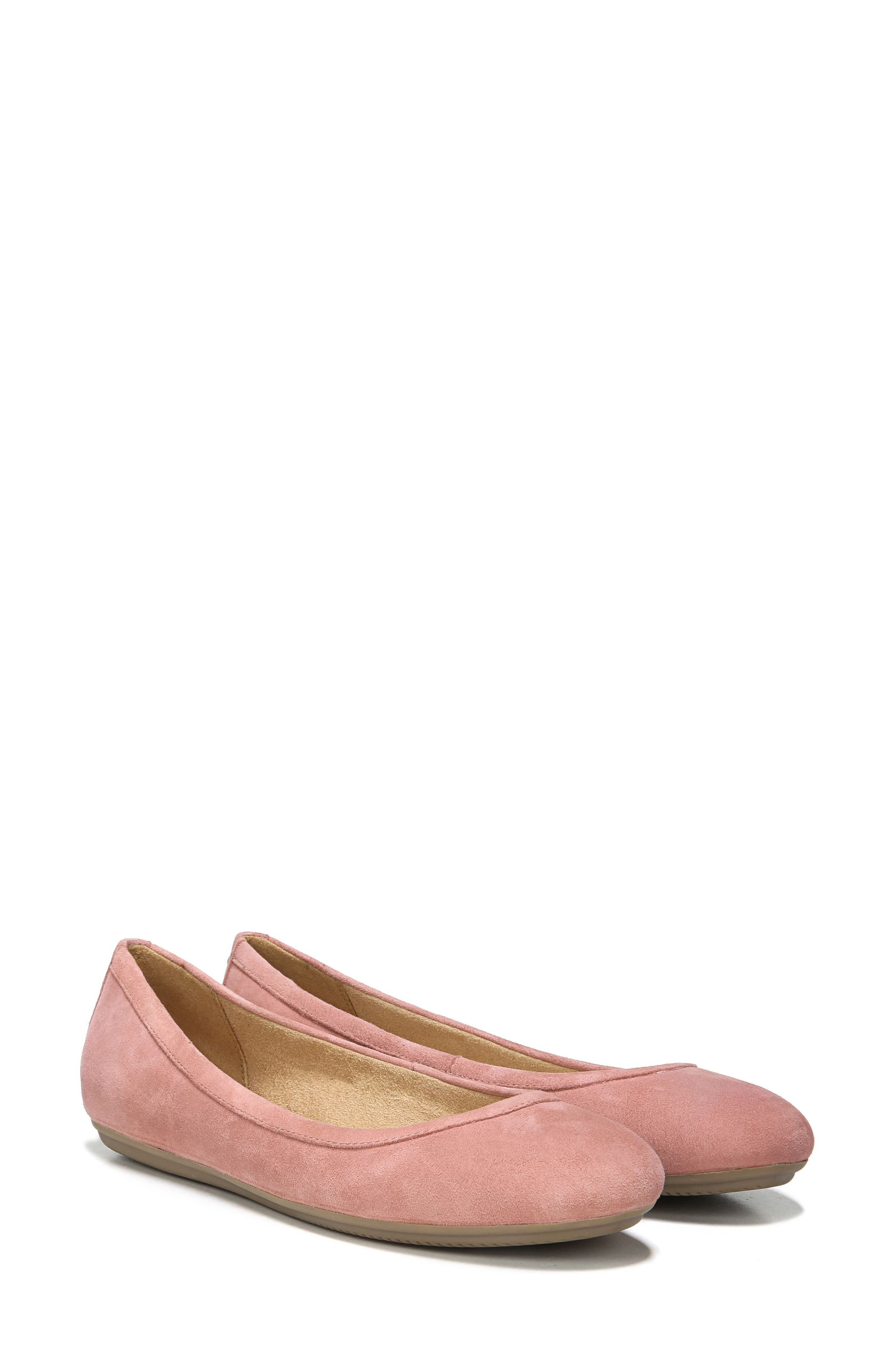 NATURALIZER, Brittany Ballet Flat, Alternate thumbnail 7, color, PEONY PINK SUEDE