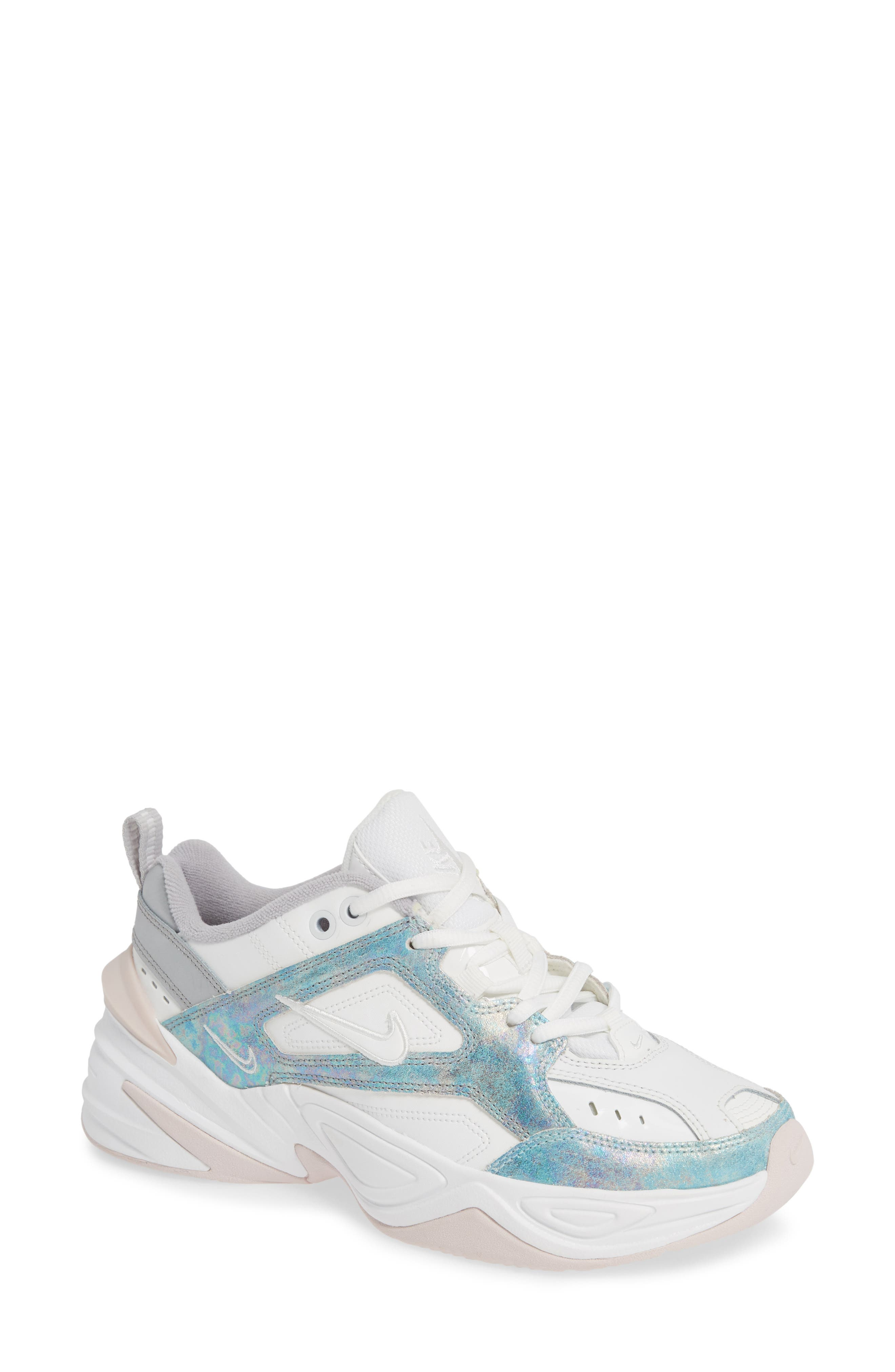NIKE, M2K Tekno Sneaker, Main thumbnail 1, color, SUMMIT WHITE/ BARELY ROSE