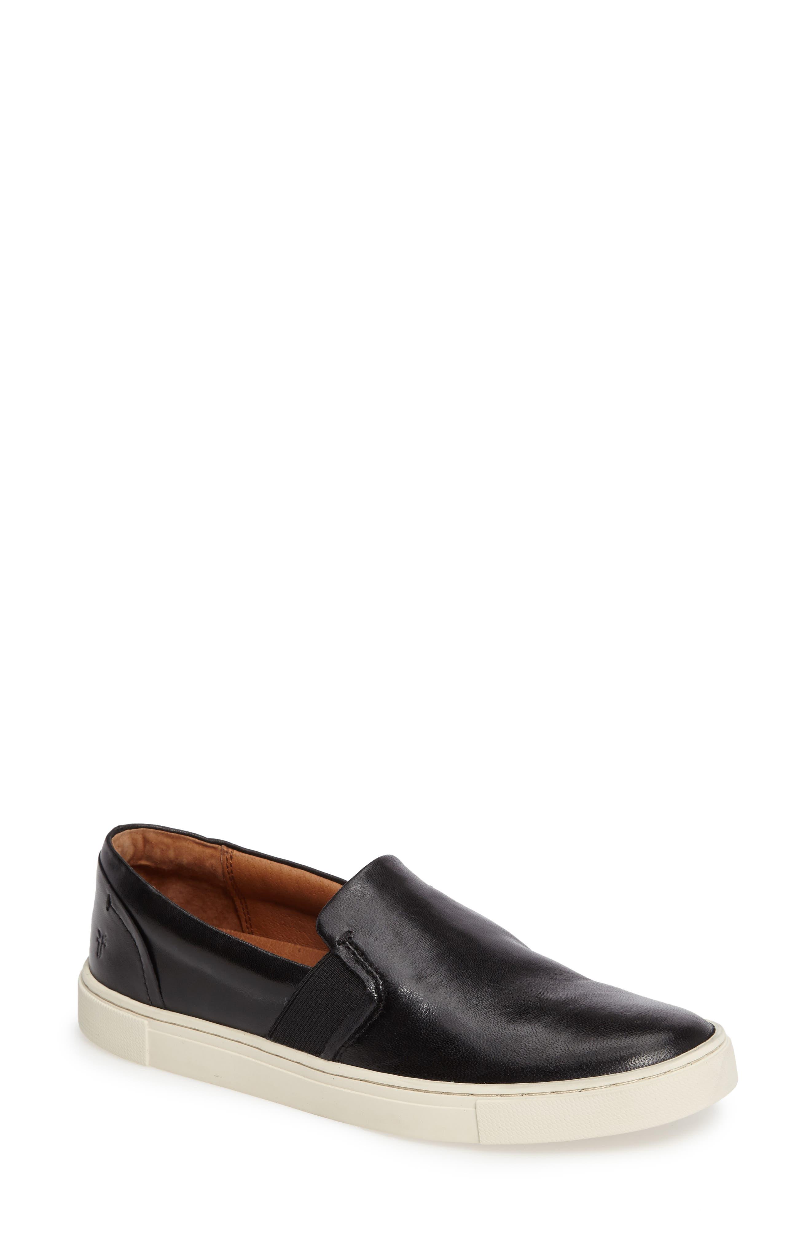 FRYE, Ivy Slip-On Sneaker, Main thumbnail 1, color, BLACK/ BLACK