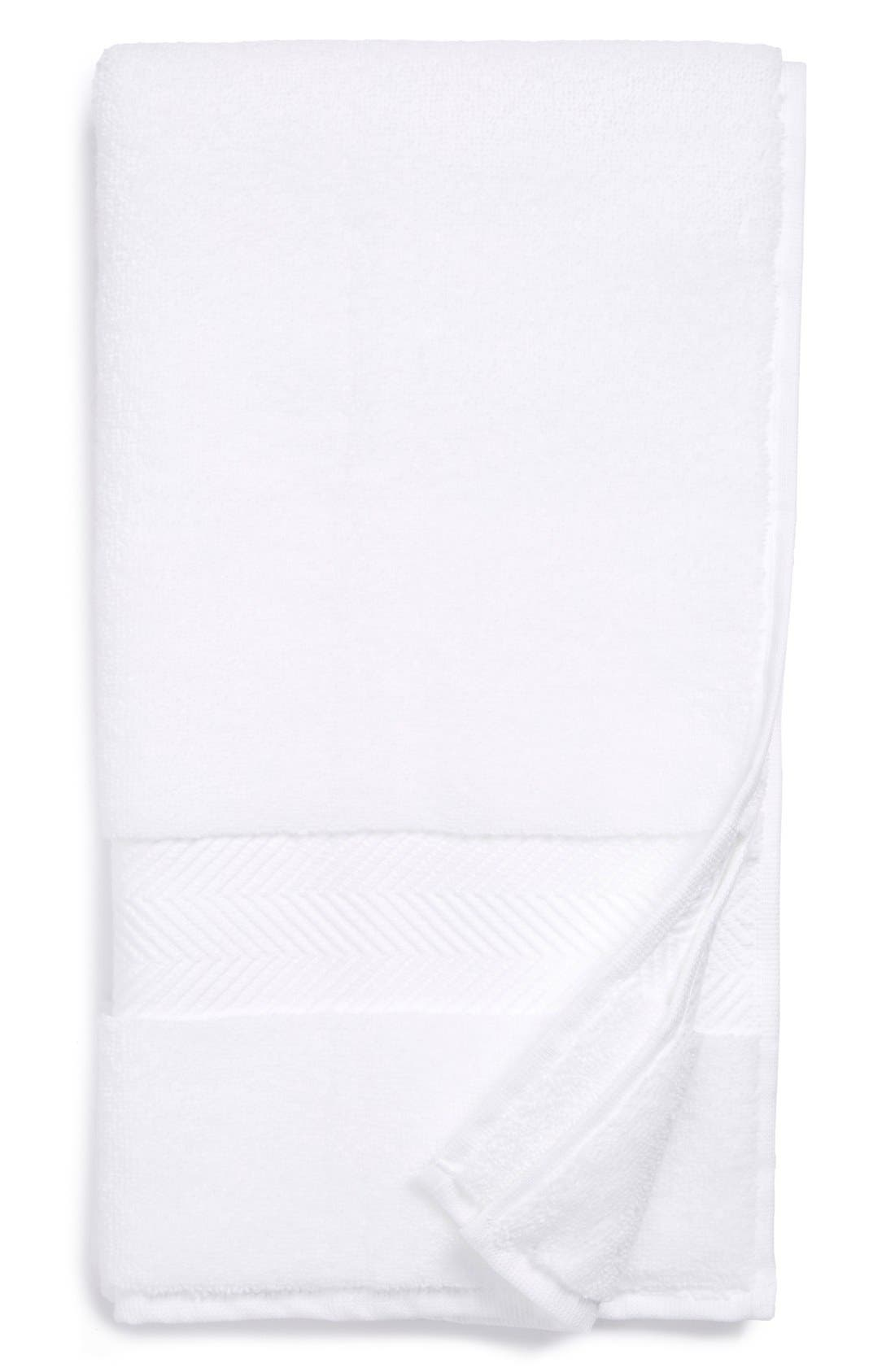 NORDSTROM AT HOME, Hydrocotton Hand Towel, Main thumbnail 1, color, WHITE