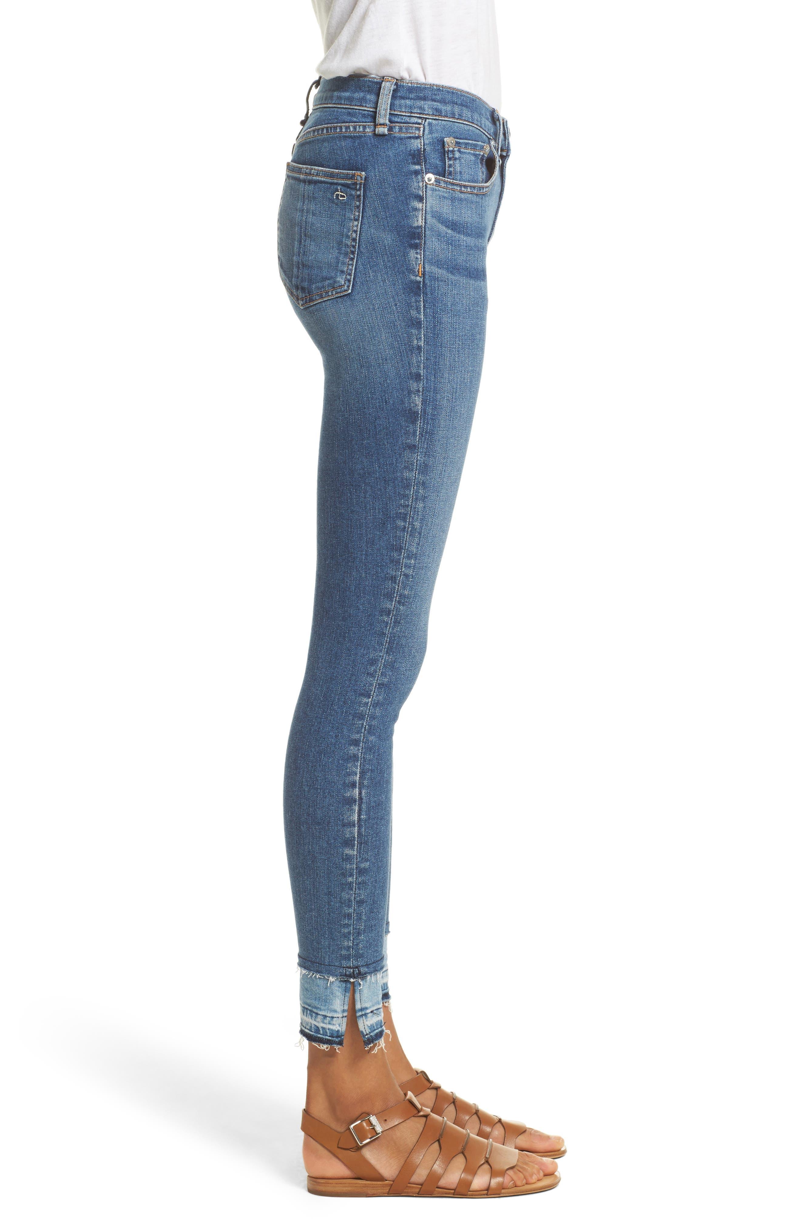 RAG & BONE, High Waist Ankle Skinny Jeans, Alternate thumbnail 3, color, 427