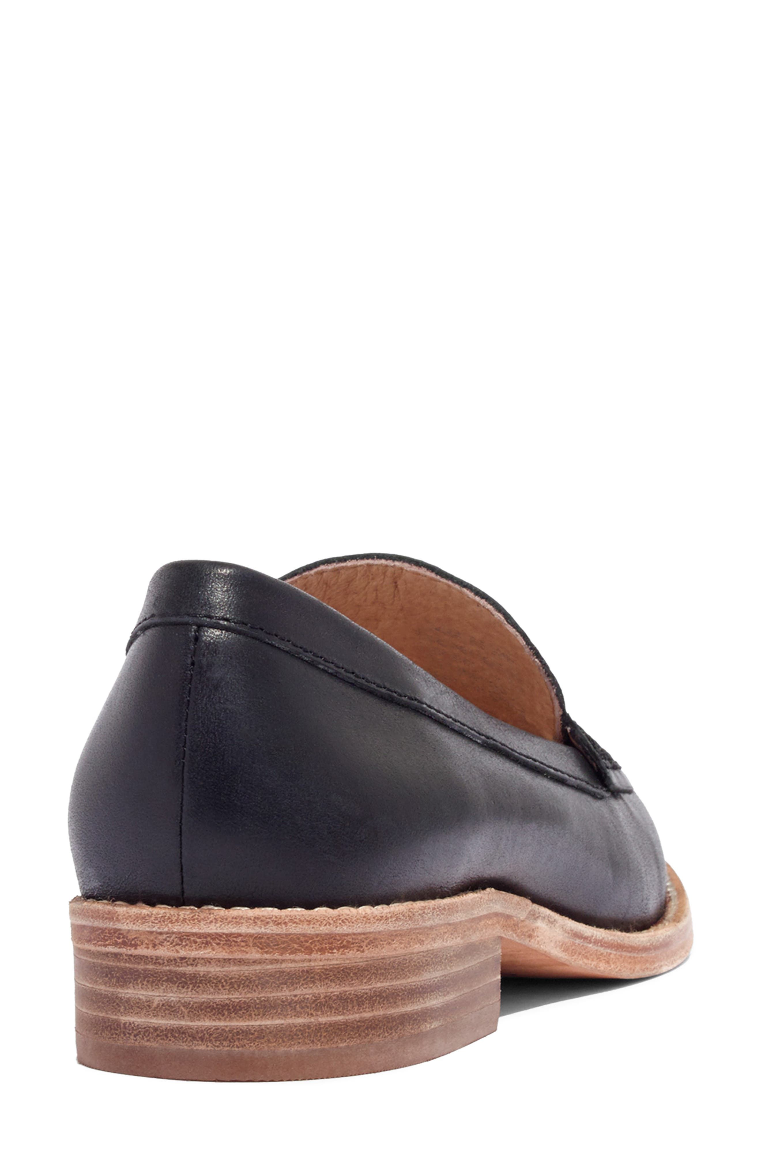 MADEWELL, The Elinor Loafer, Alternate thumbnail 9, color, BLACK LEATHER