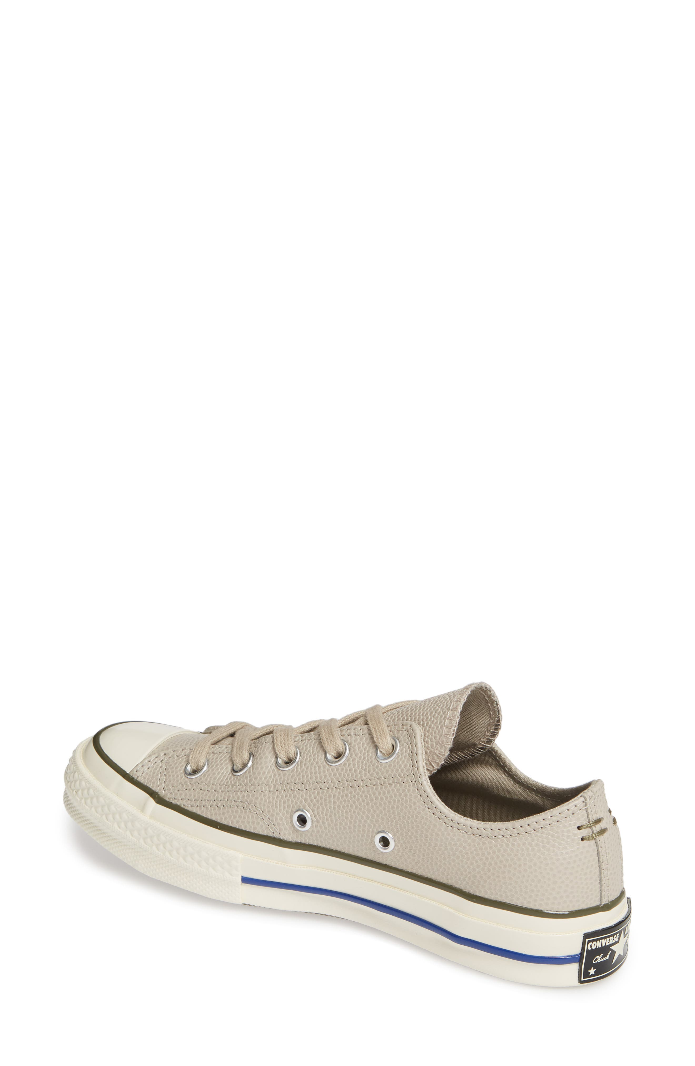 CONVERSE, Chuck Taylor<sup>®</sup> All Star<sup>®</sup> Chuck 70 Ox Leather Sneaker, Alternate thumbnail 2, color, PAPYRUS/ FIELD SURPLUS/ EGRET