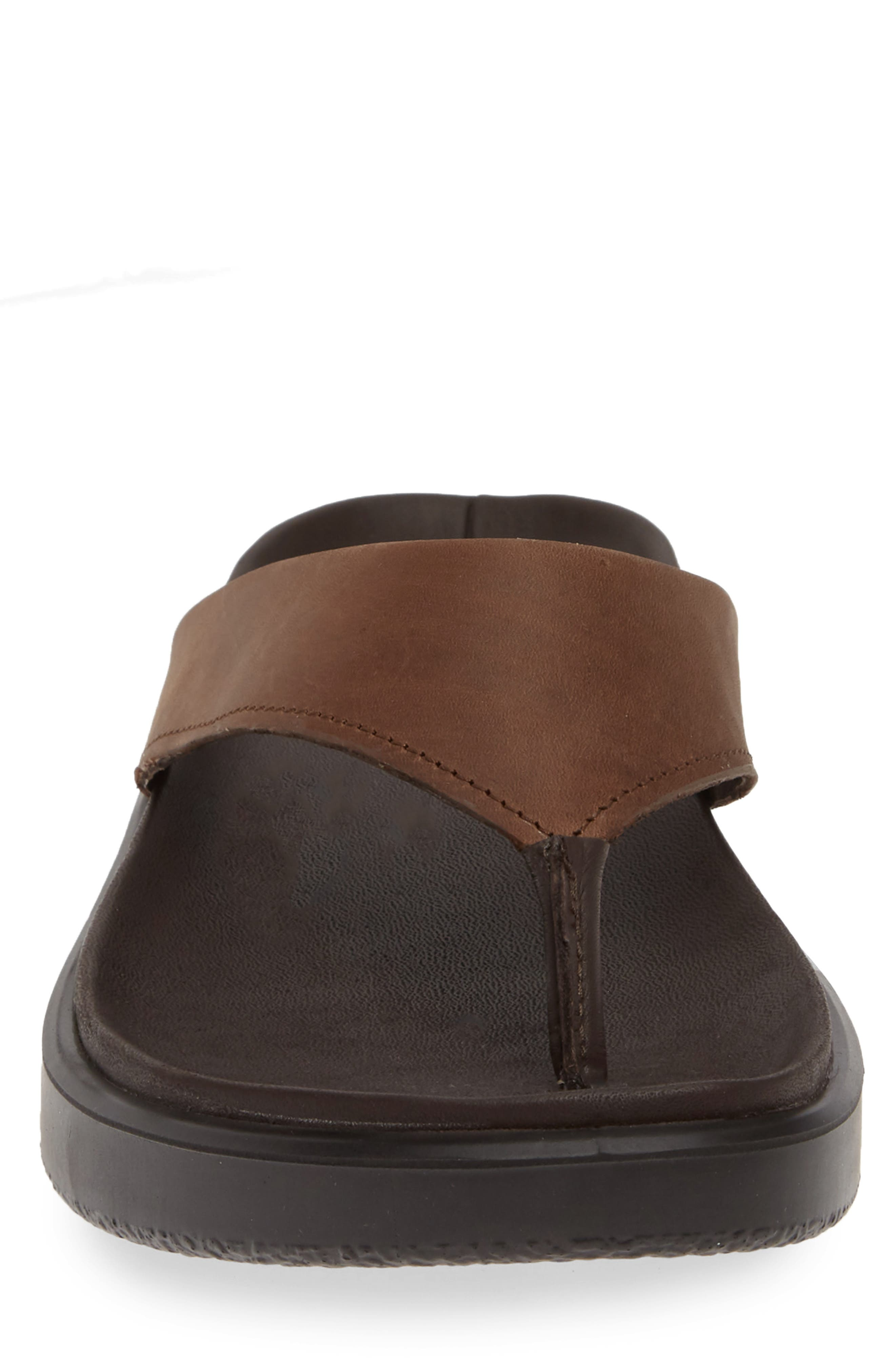 ECCO, Flowt LX Flip Flop, Alternate thumbnail 4, color, COCOA BROWN OILED NUBUCK