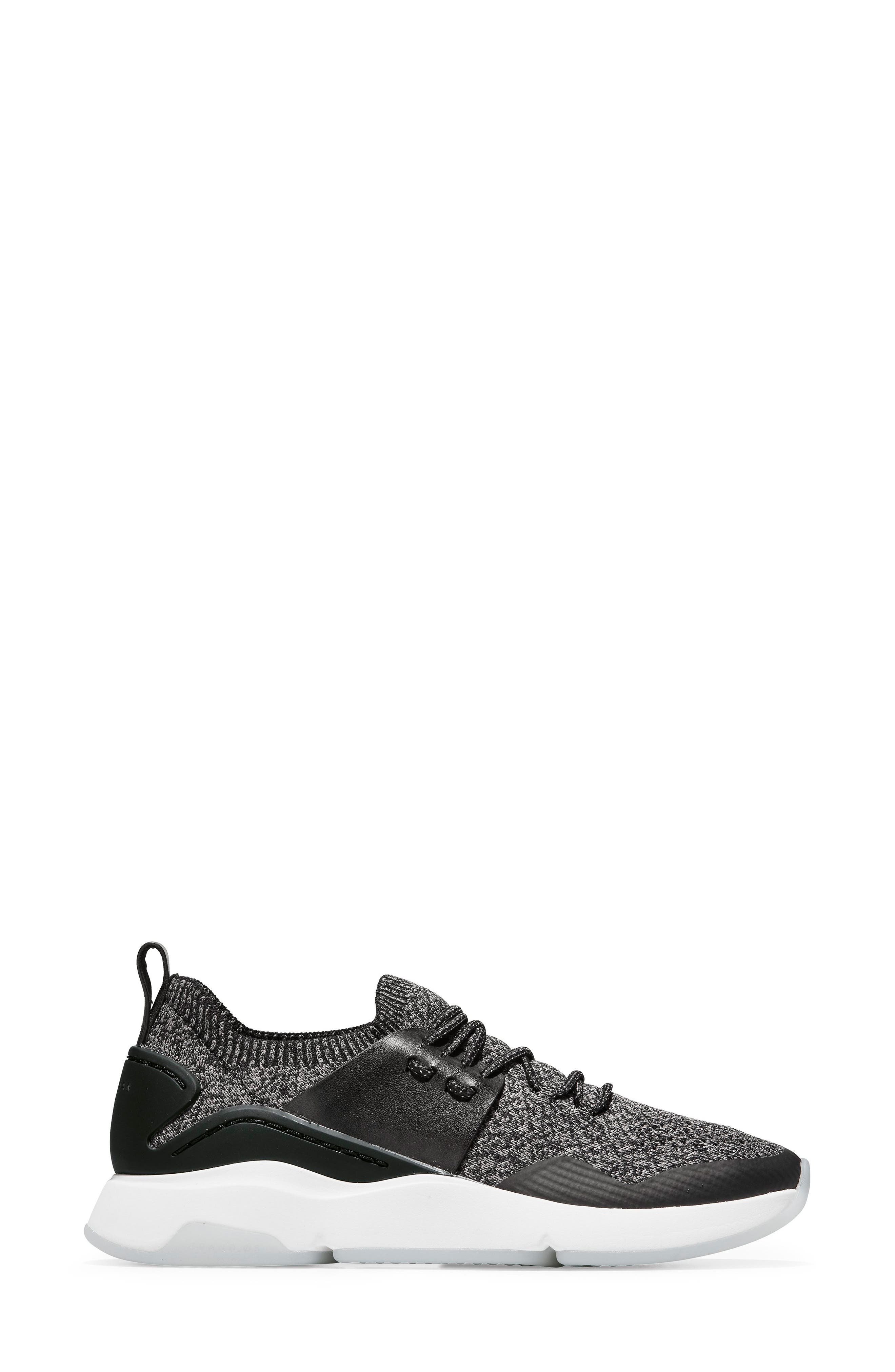 COLE HAAN, ZeroGrand All Day Trainer Sneaker, Alternate thumbnail 3, color, BLACK LEATHER