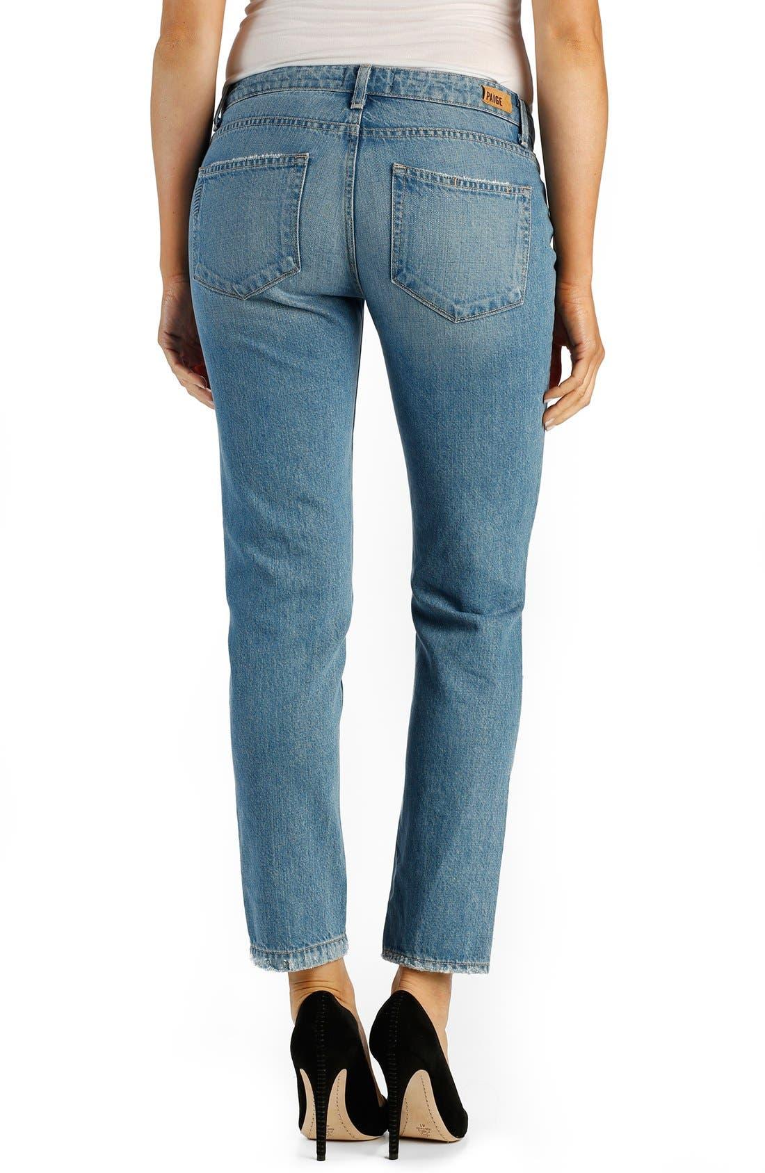 PAIGE, Denim 'Jimmy Jimmy' Ankle Boyfriend Skinny Jeans, Alternate thumbnail 2, color, 400