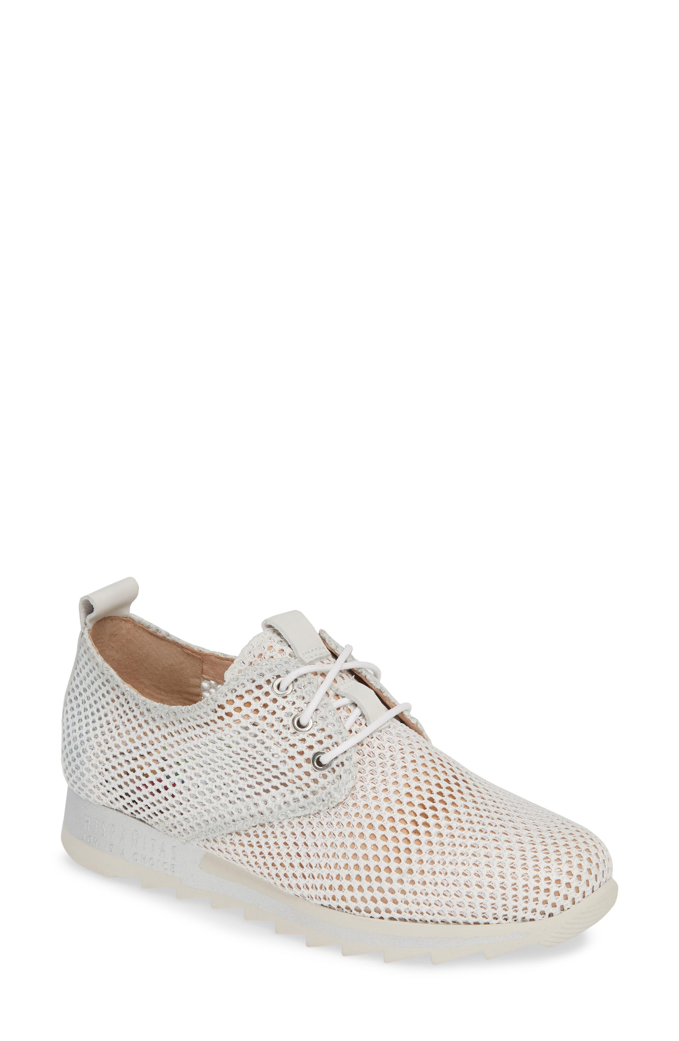 HISPANITAS Babe Mesh Sneaker, Main, color, ROBERTA BLANCO LEATHER