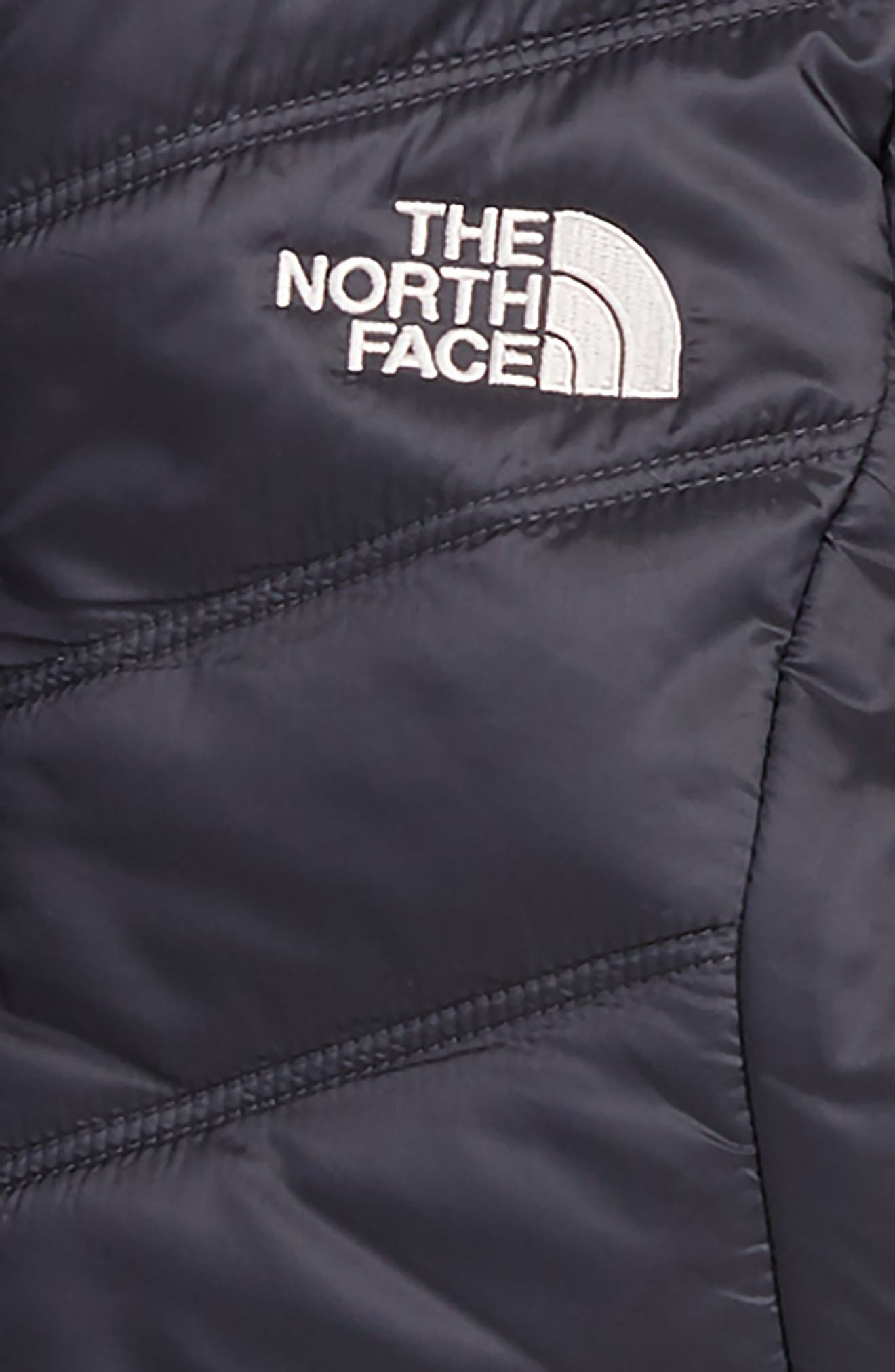 THE NORTH FACE, Mossbud Swirl Reversible Hooded Parka, Alternate thumbnail 2, color, 021