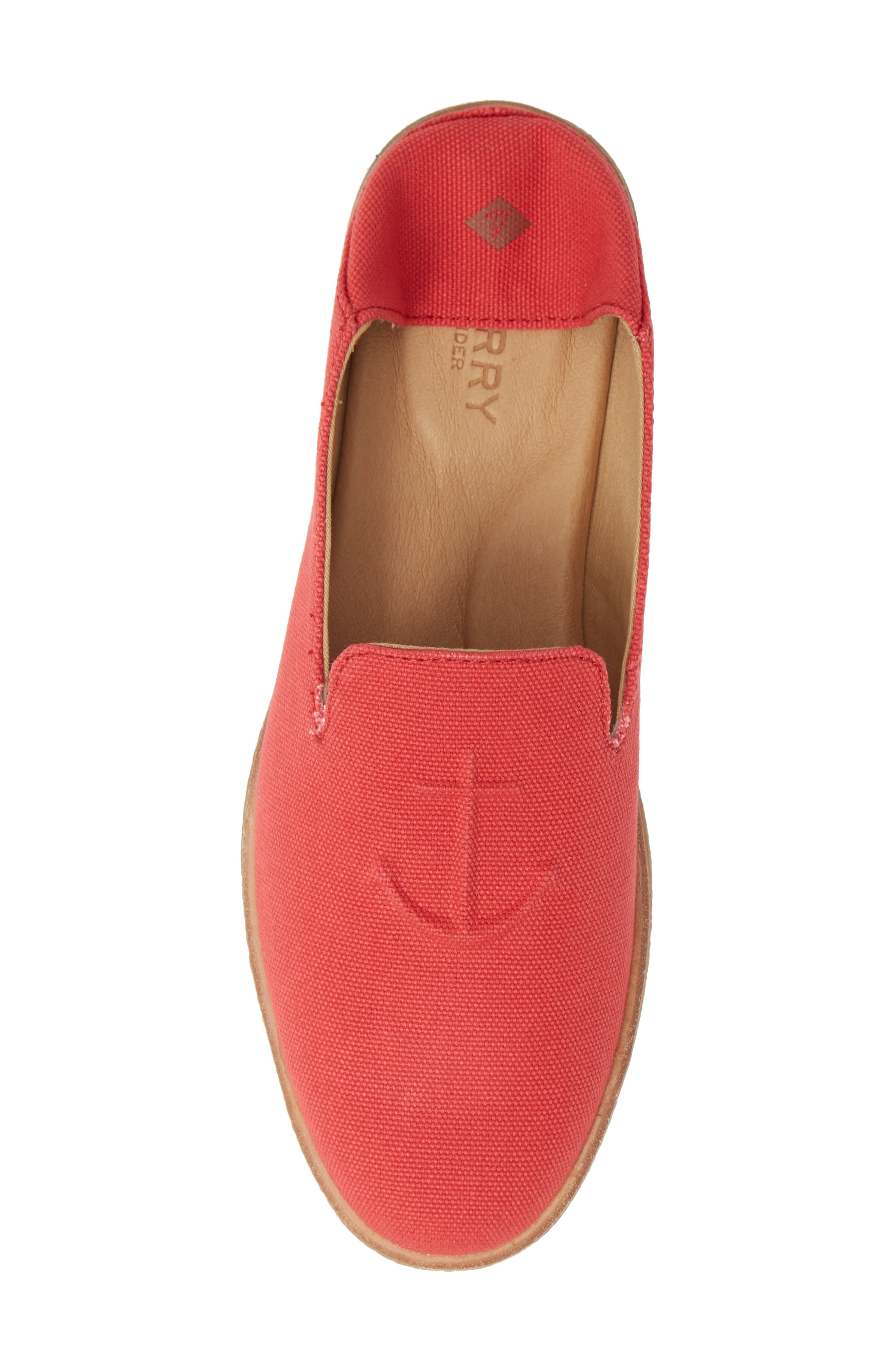 SPERRY, Seaport Levy Flat, Alternate thumbnail 6, color, RED CANVAS