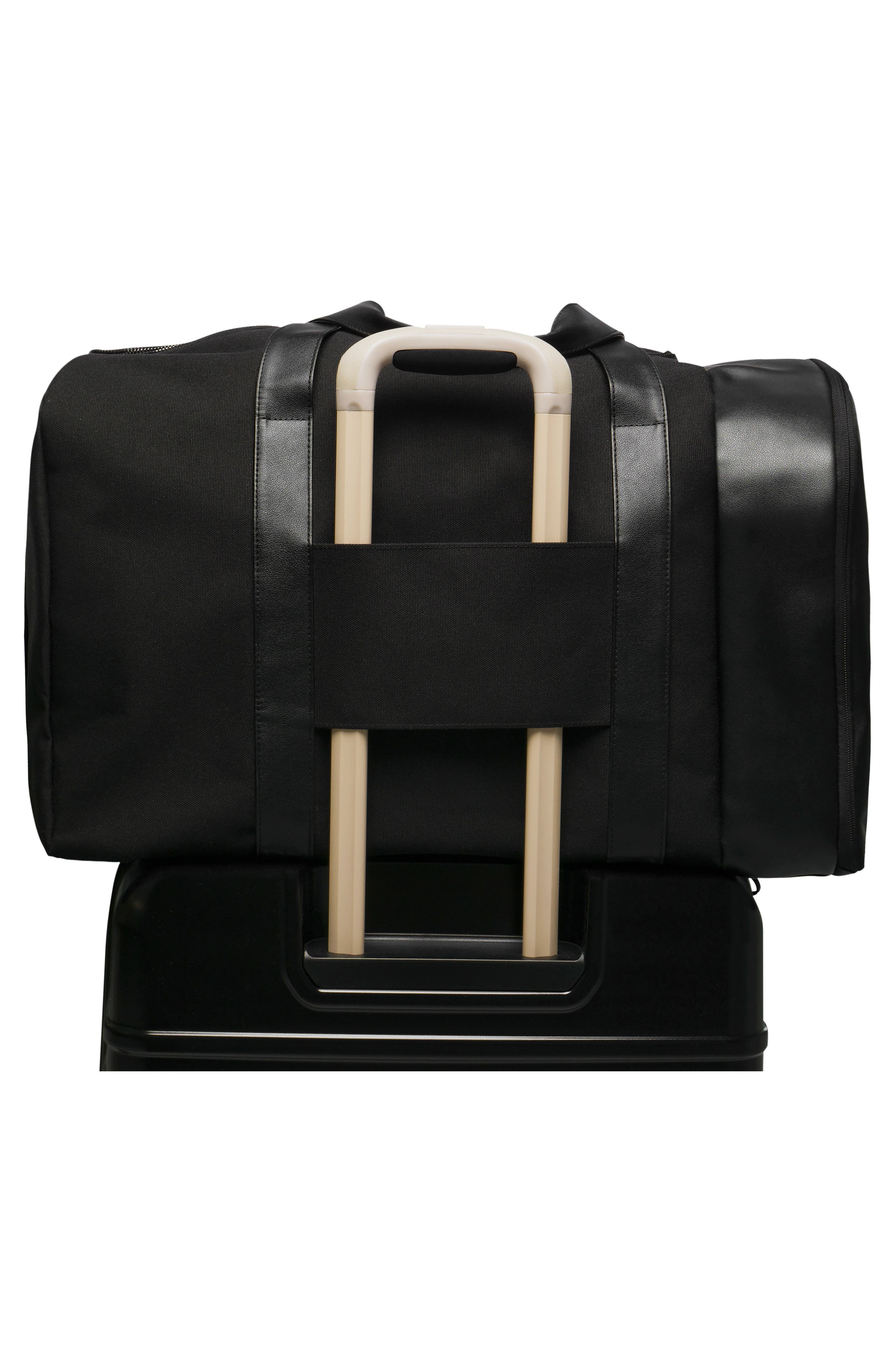 BÉIS, Travel Multi Function Duffle Bag, Alternate thumbnail 6, color, BLACK