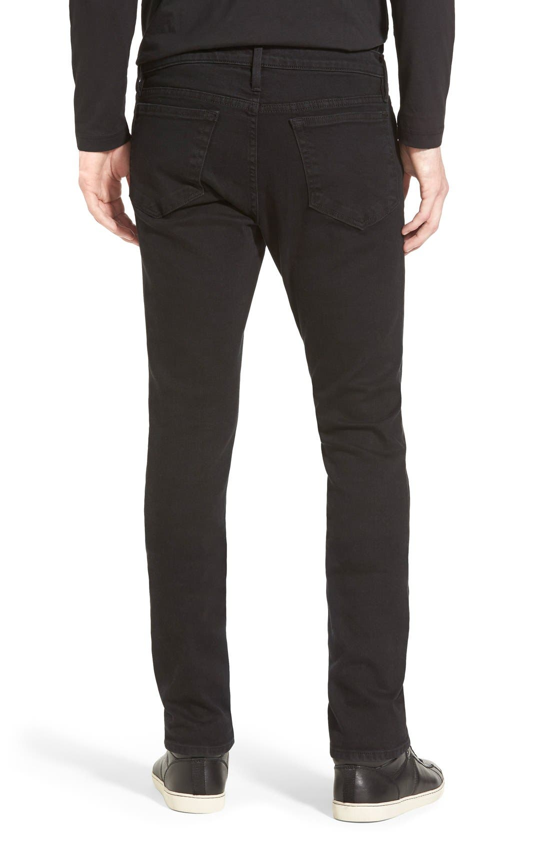 FRAME, L'Homme Skinny Fit Jeans, Alternate thumbnail 8, color, NOIR