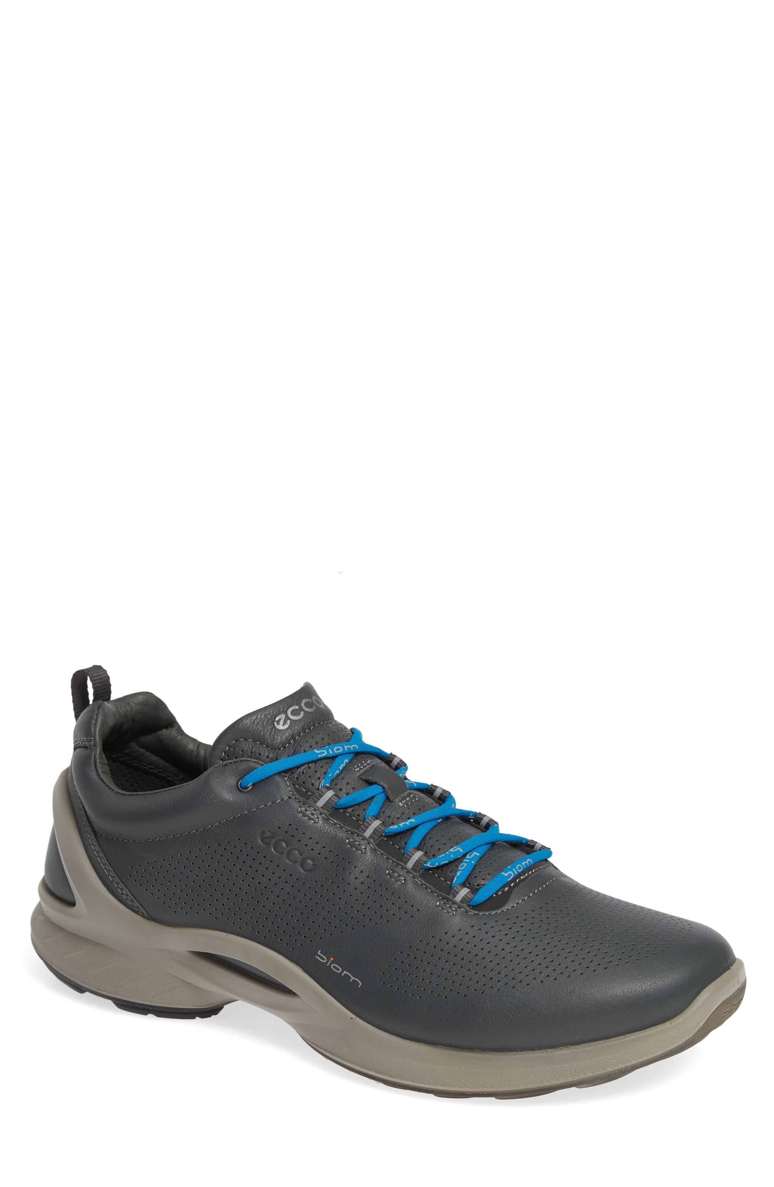 ECCO, 'BIOM Fjuel' Sneaker, Main thumbnail 1, color, DARK SHADOW LEATHER