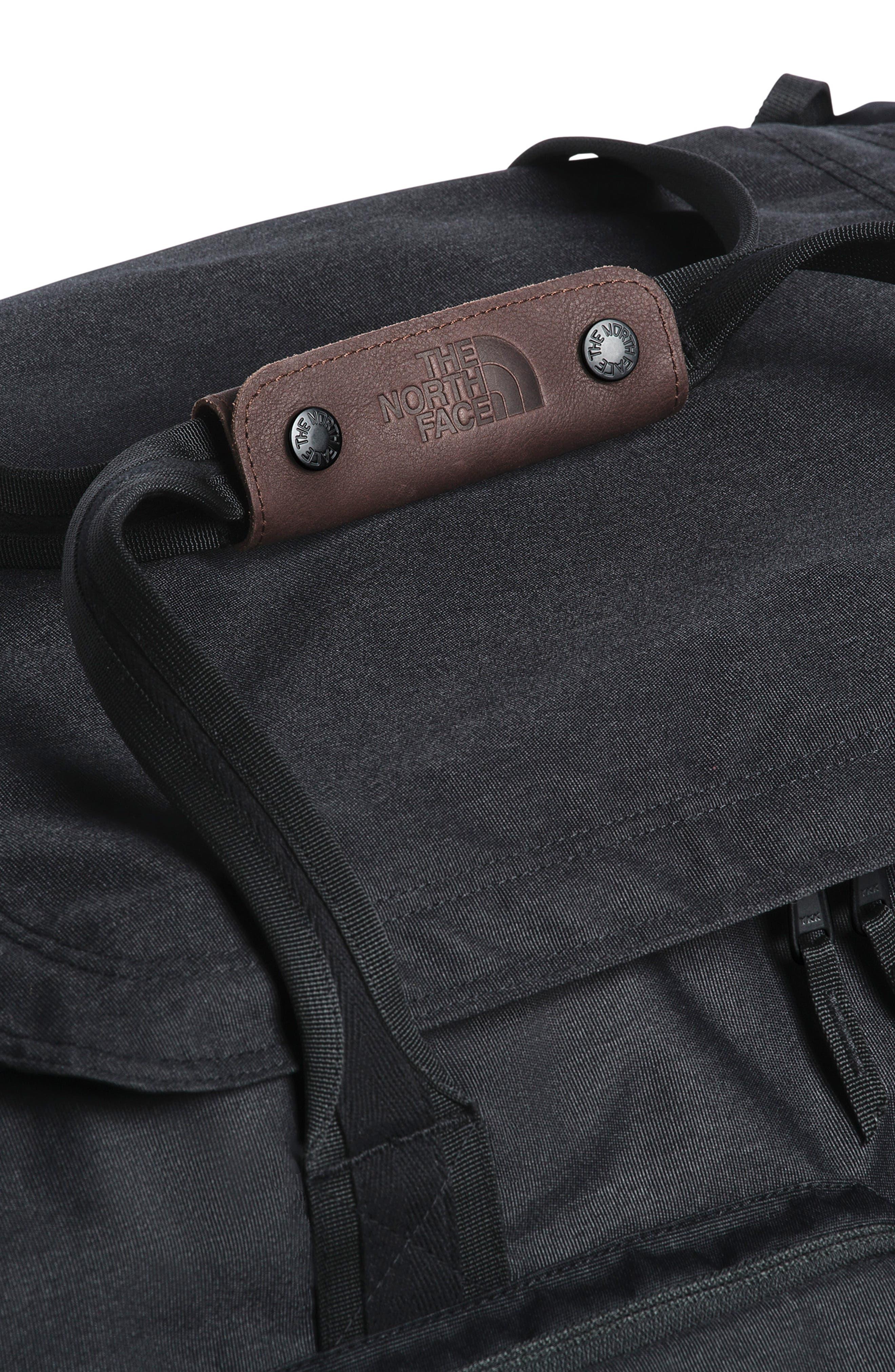 THE NORTH FACE, Berkeley Duffle Bag, Alternate thumbnail 4, color, BLACK HEATHER