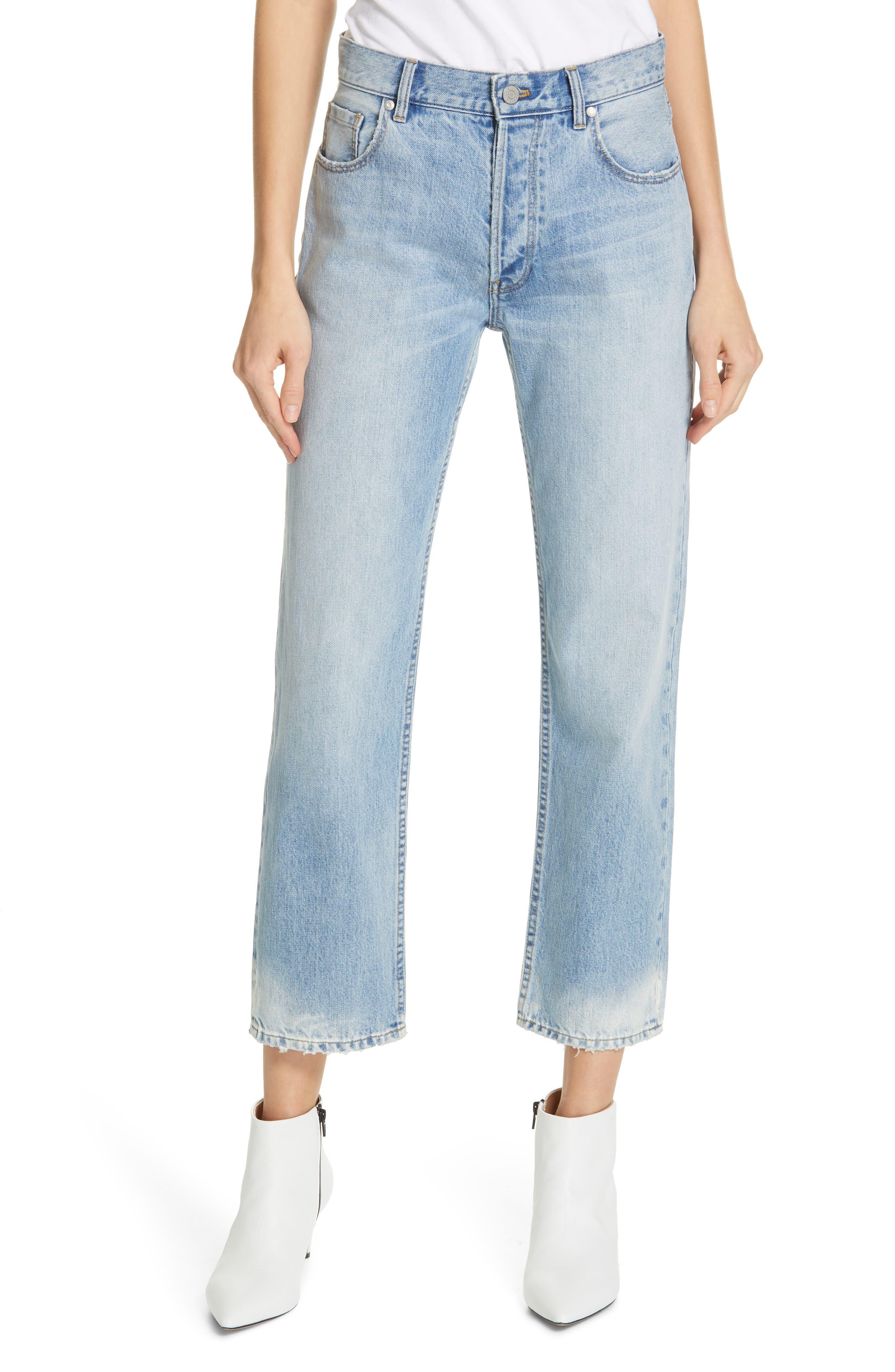 LA VIE REBECCA TAYLOR Sylvie High Waist Jeans, Main, color, CHANTAL WASH