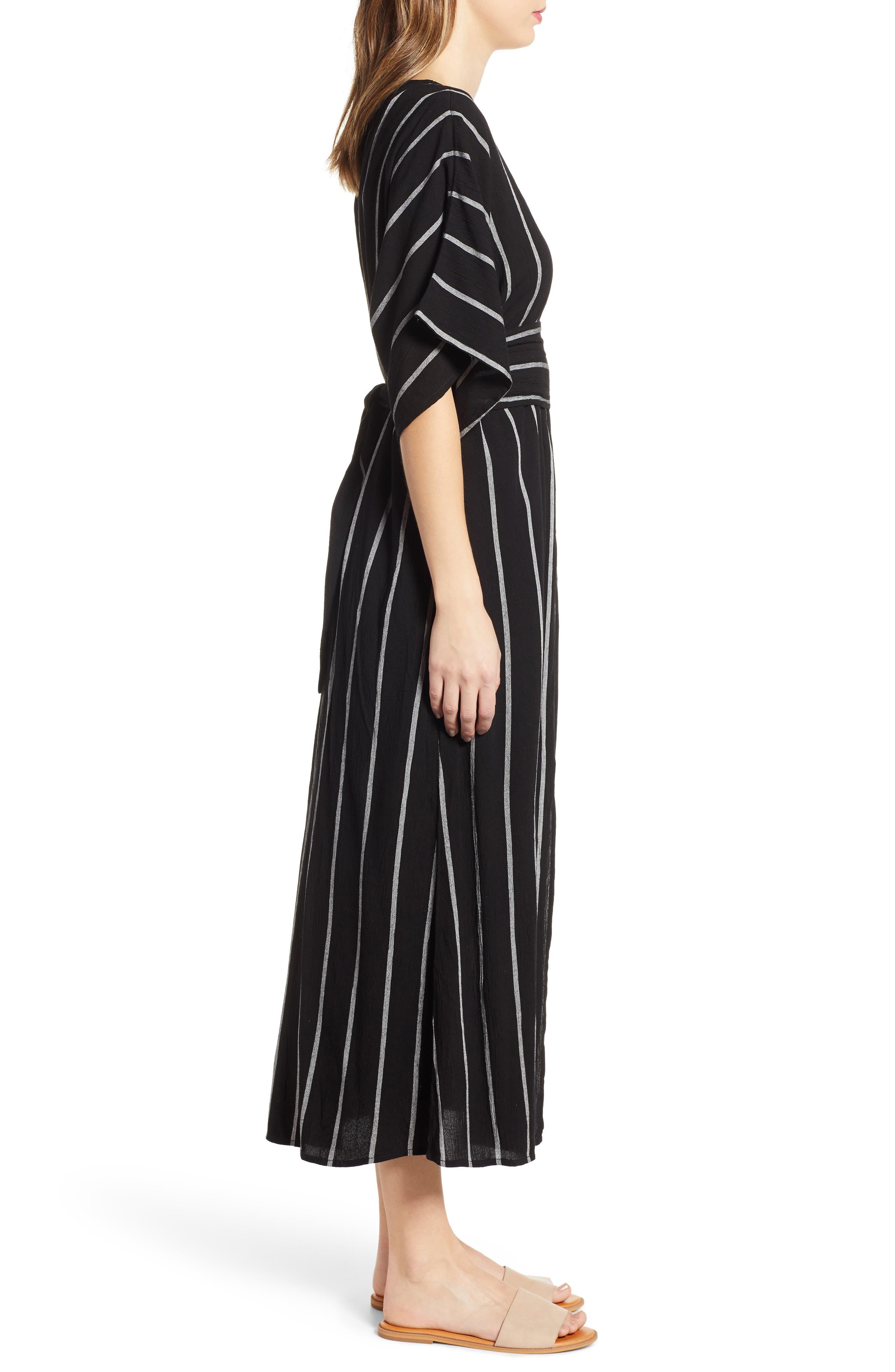 BILLABONG, Forever Fine Dress, Alternate thumbnail 3, color, BLACK