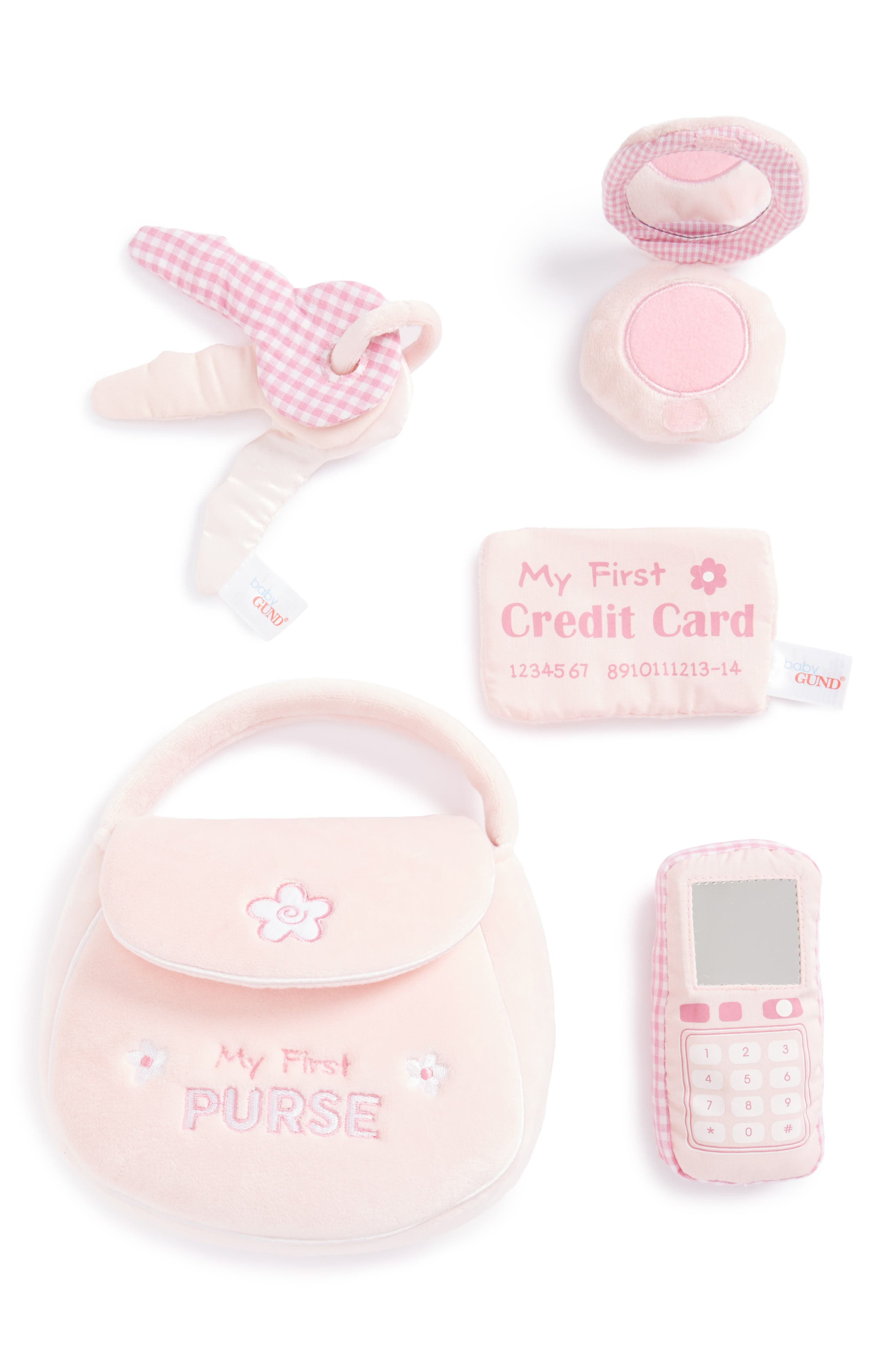 GUND, Baby Gund 'My First Purse' Play Set, Alternate thumbnail 2, color, 650