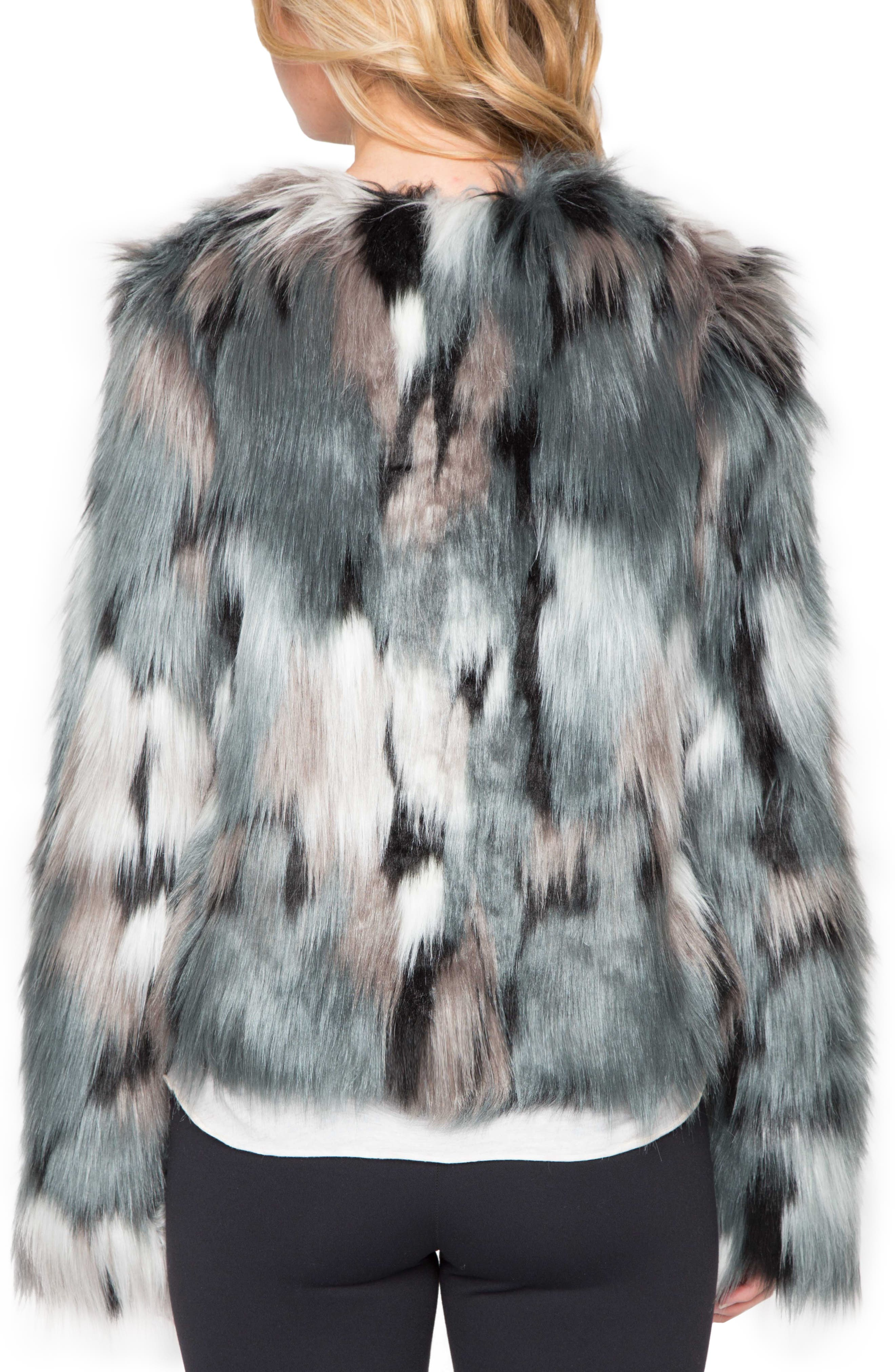 WILLOW & CLAY, Faux Fur Jacket, Alternate thumbnail 2, color, 445