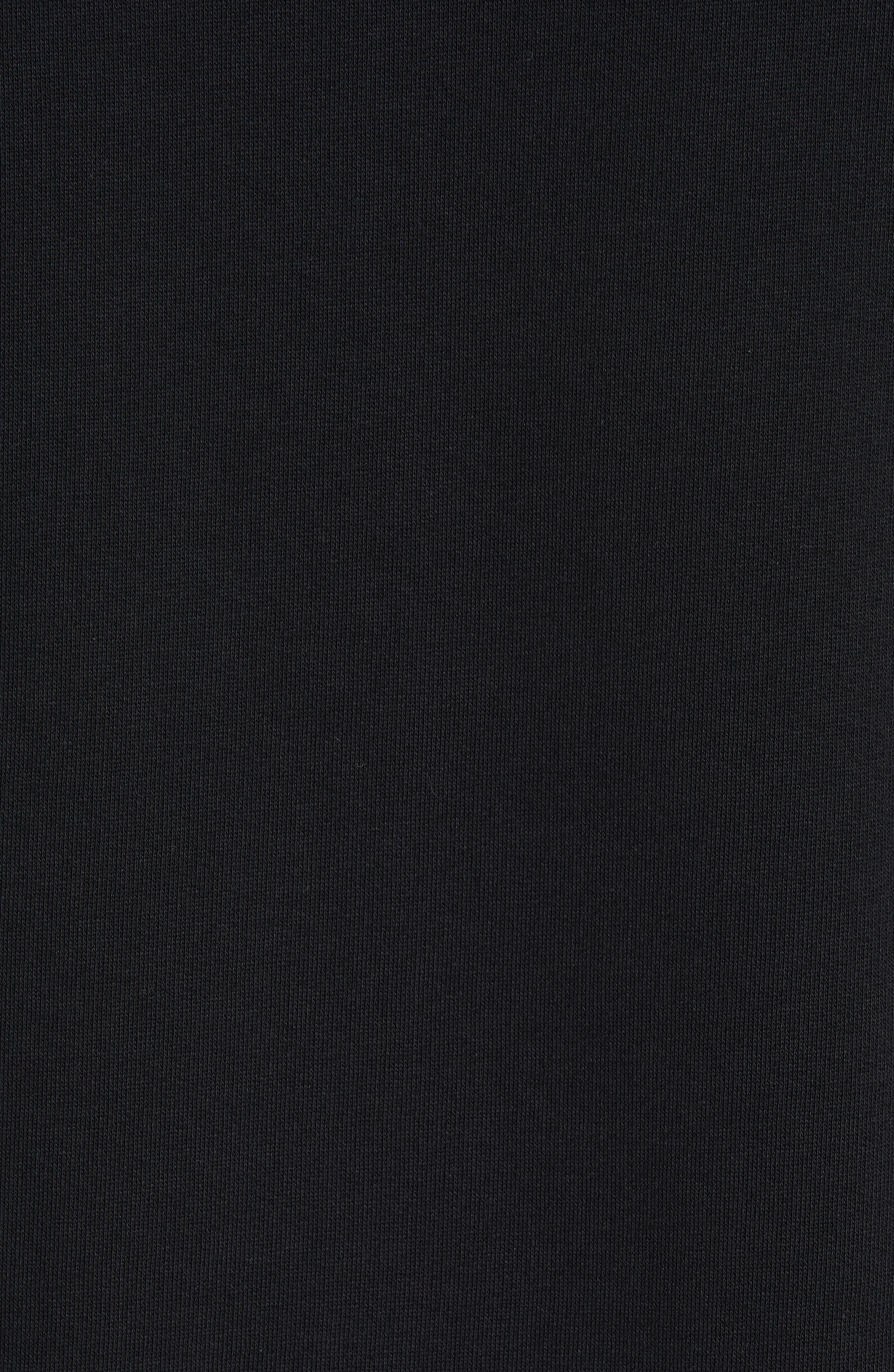 ACNE STUDIOS, Farrin Face Hooded Sweatshirt, Alternate thumbnail 5, color, BLACK