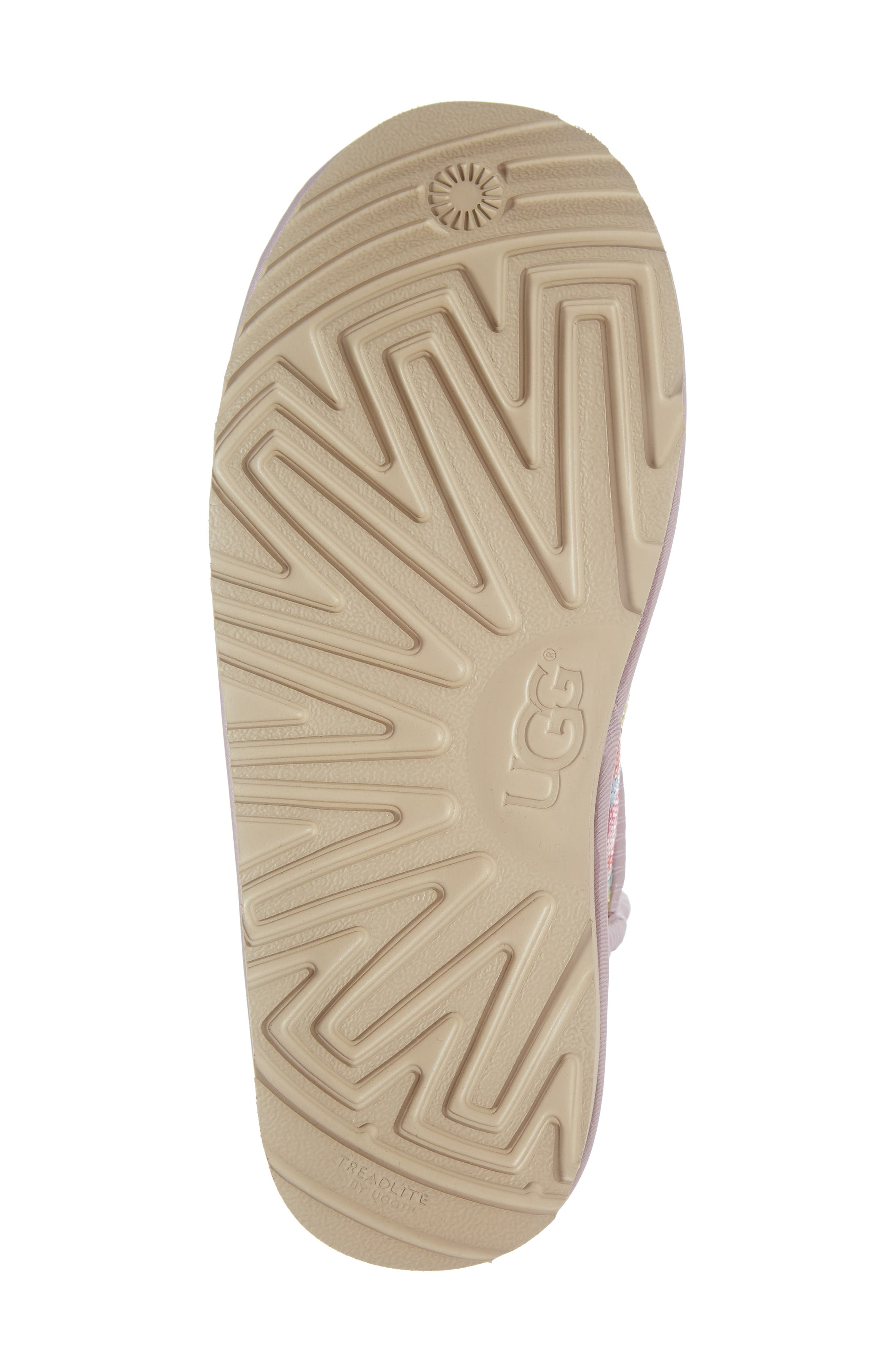 UGG<SUP>®</SUP>, Rainbow Classic Short II Sequin Stripe Boot, Alternate thumbnail 6, color, RAINBOW MULTI