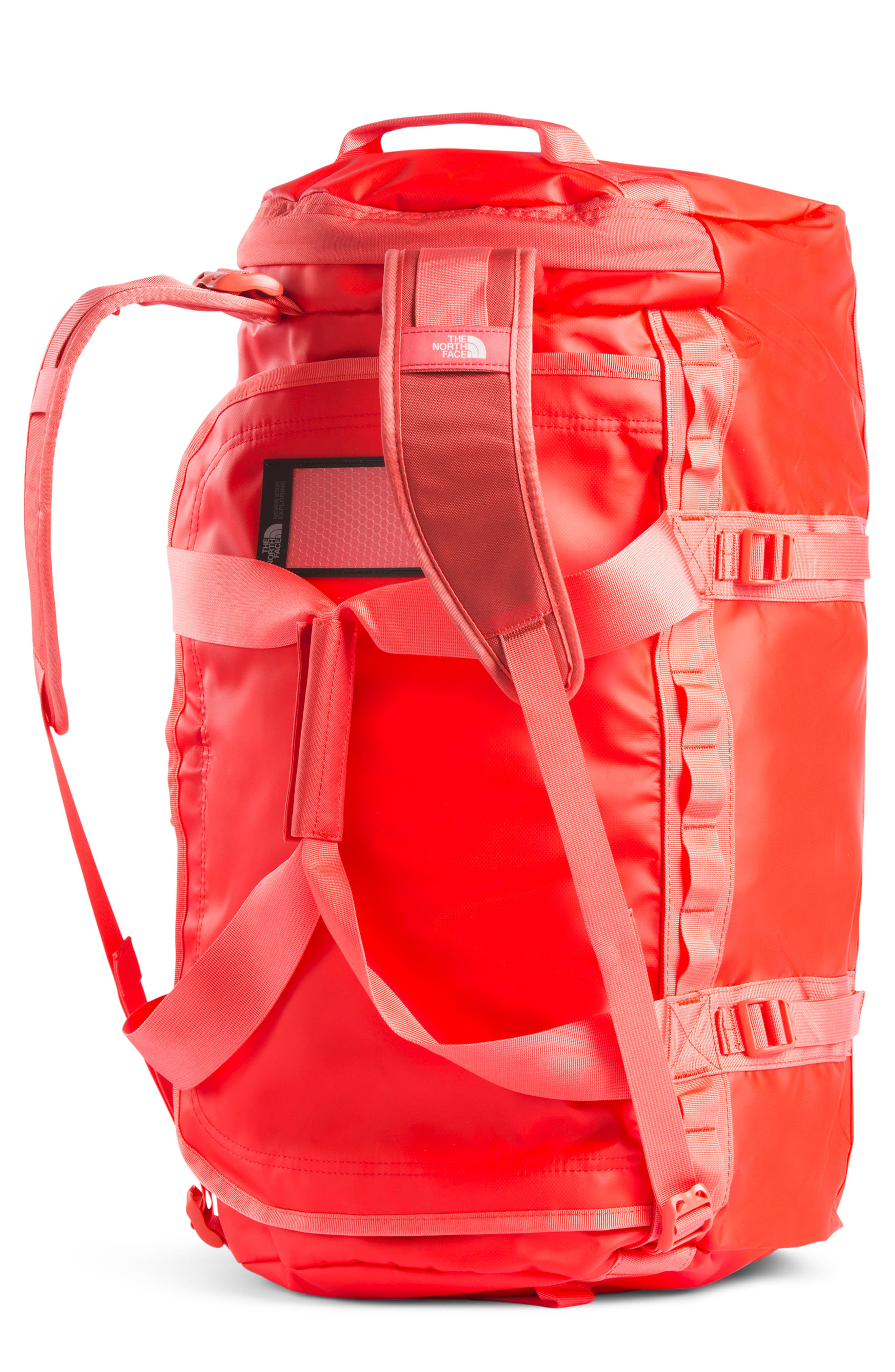 THE NORTH FACE, Base Camp Medium Duffle Bag, Main thumbnail 1, color, JUICY RED/ SPICED CORAL