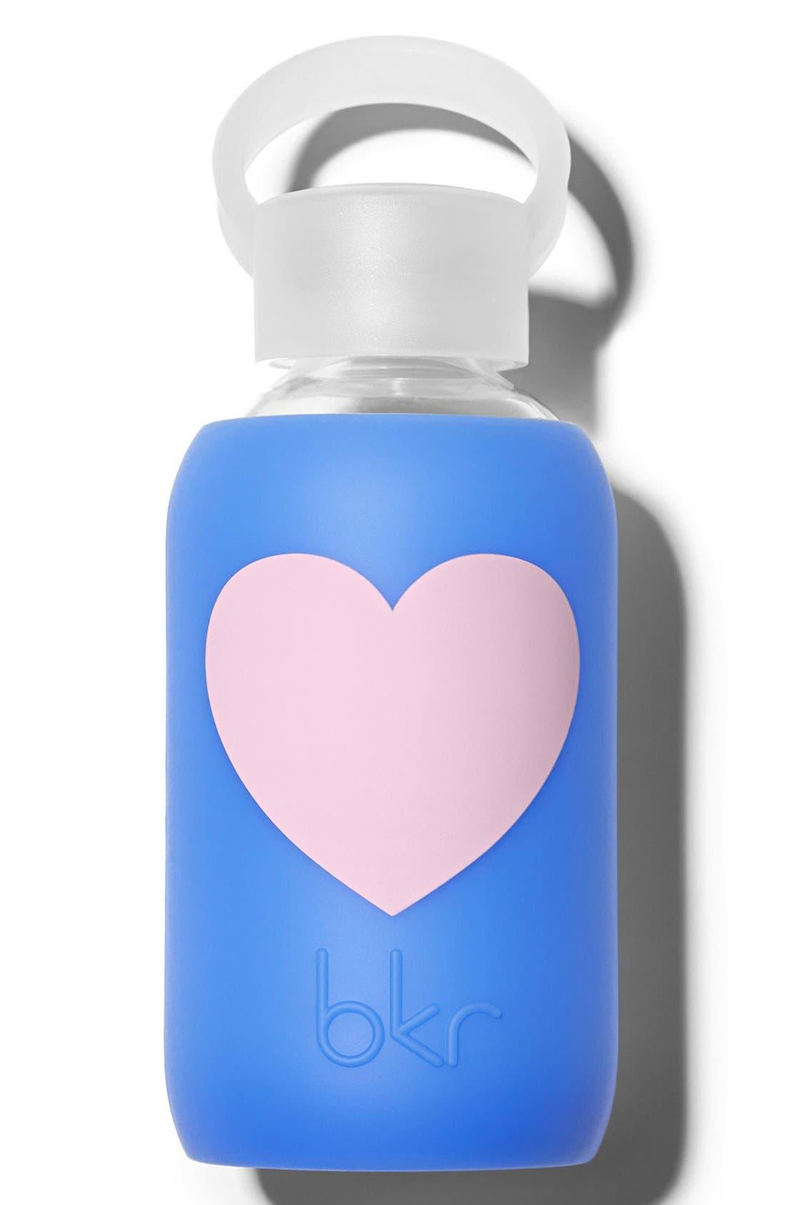 BKR,  Heart 8-Ounce Glass Water Bottle, Main thumbnail 1, color, 400