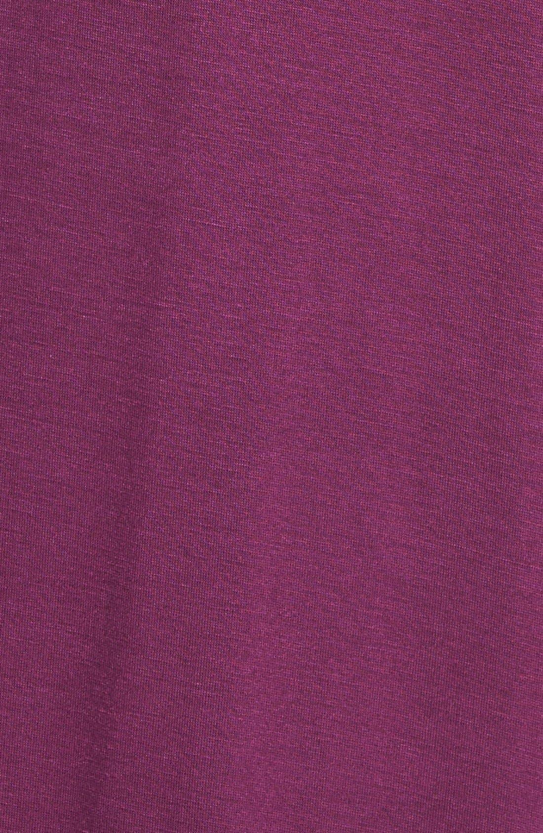 LOVEAPPELLA, V-Neck Jersey Maxi Dress, Alternate thumbnail 9, color, PURPLE DARK