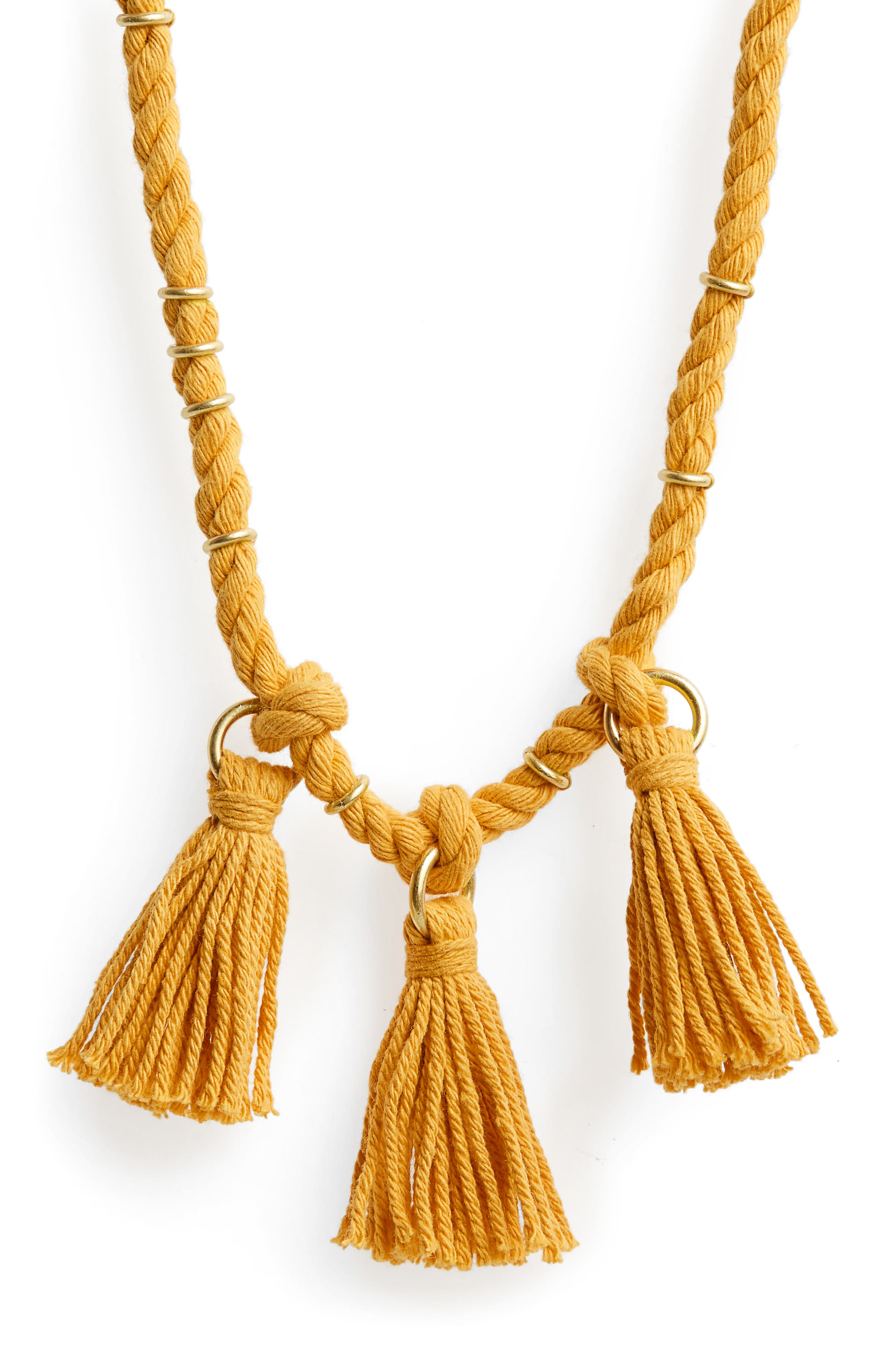 MADEWELL Rope & Tassel Necklace, Main, color, 717