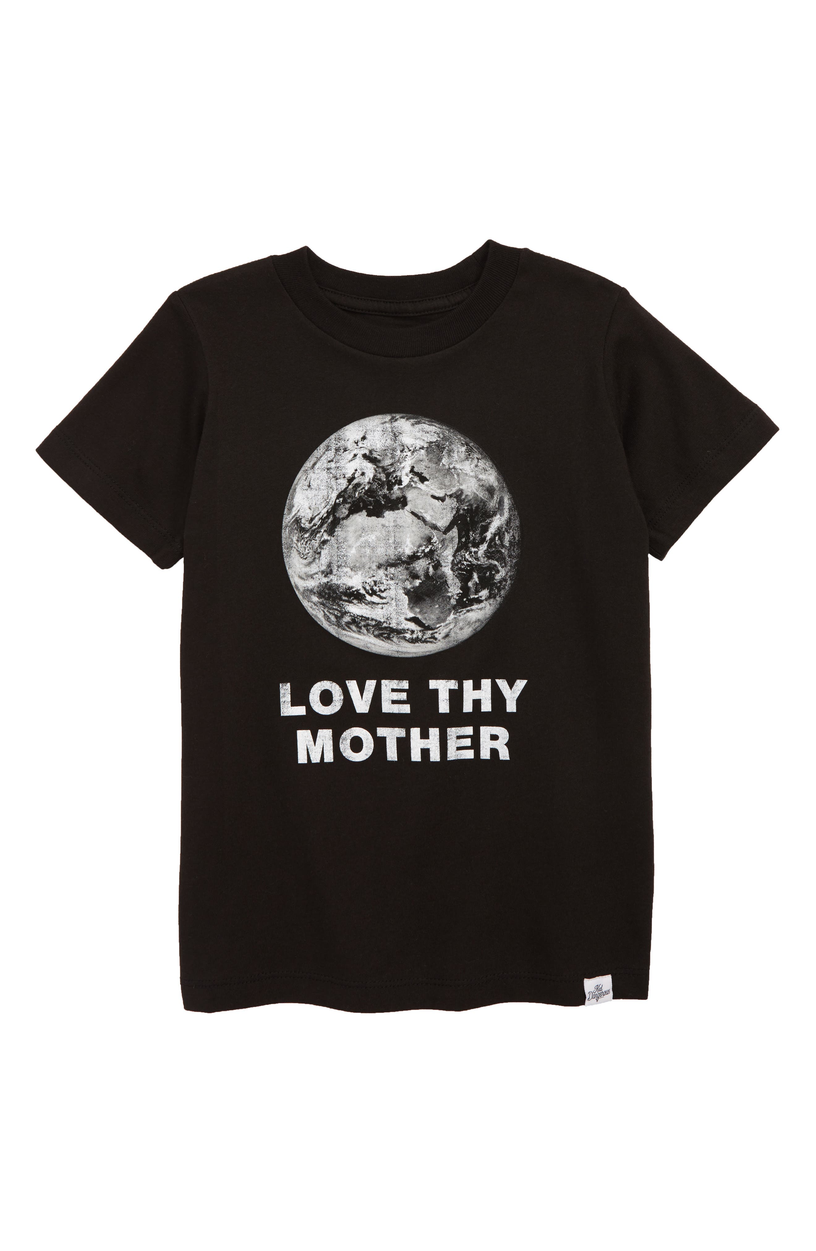 Boys Kid Dangerous Love Thy Mother Graphic TShirt Size 8  Black