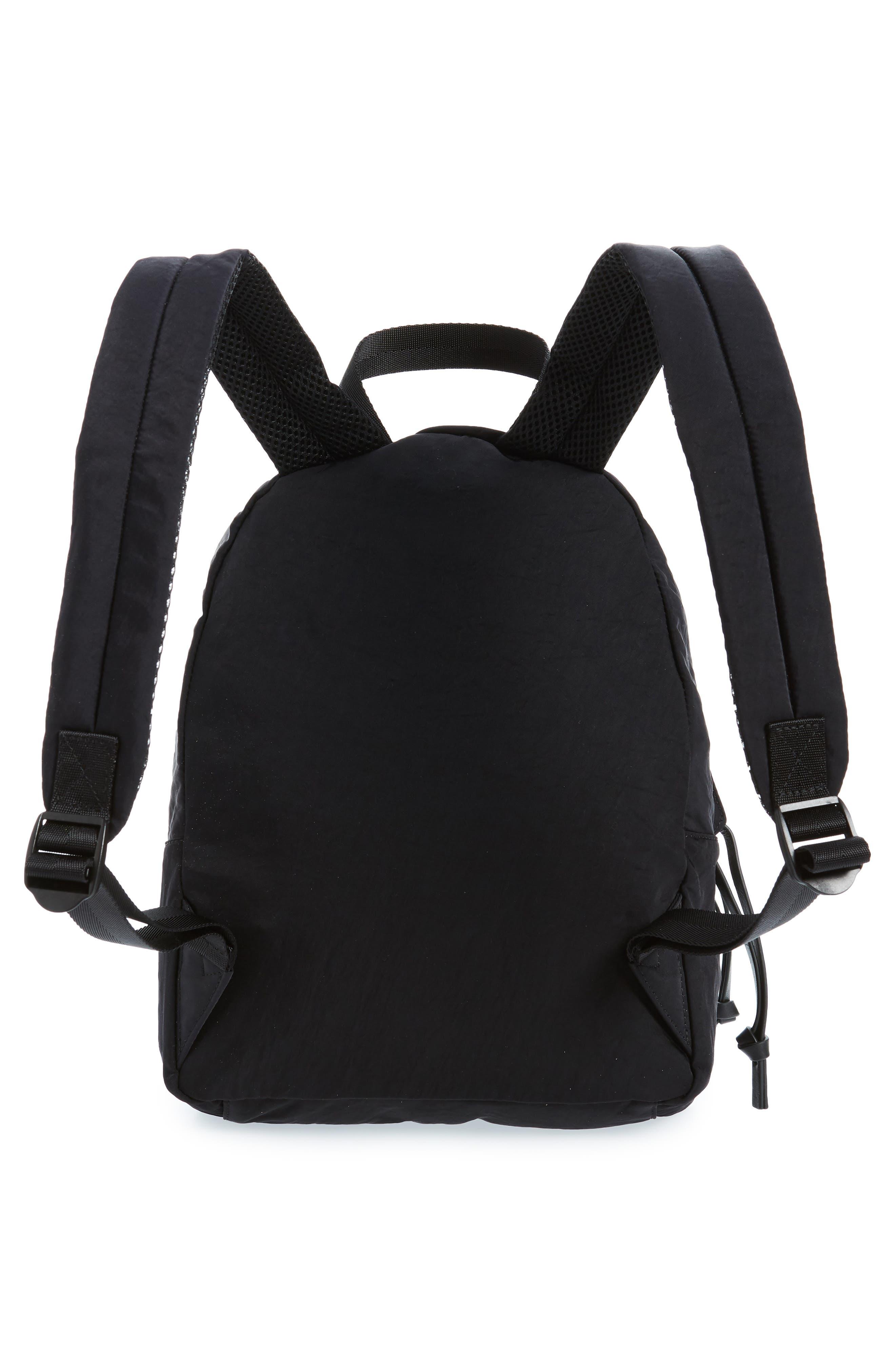 REBECCA MINKOFF, Nylon Backpack, Alternate thumbnail 4, color, BLACK