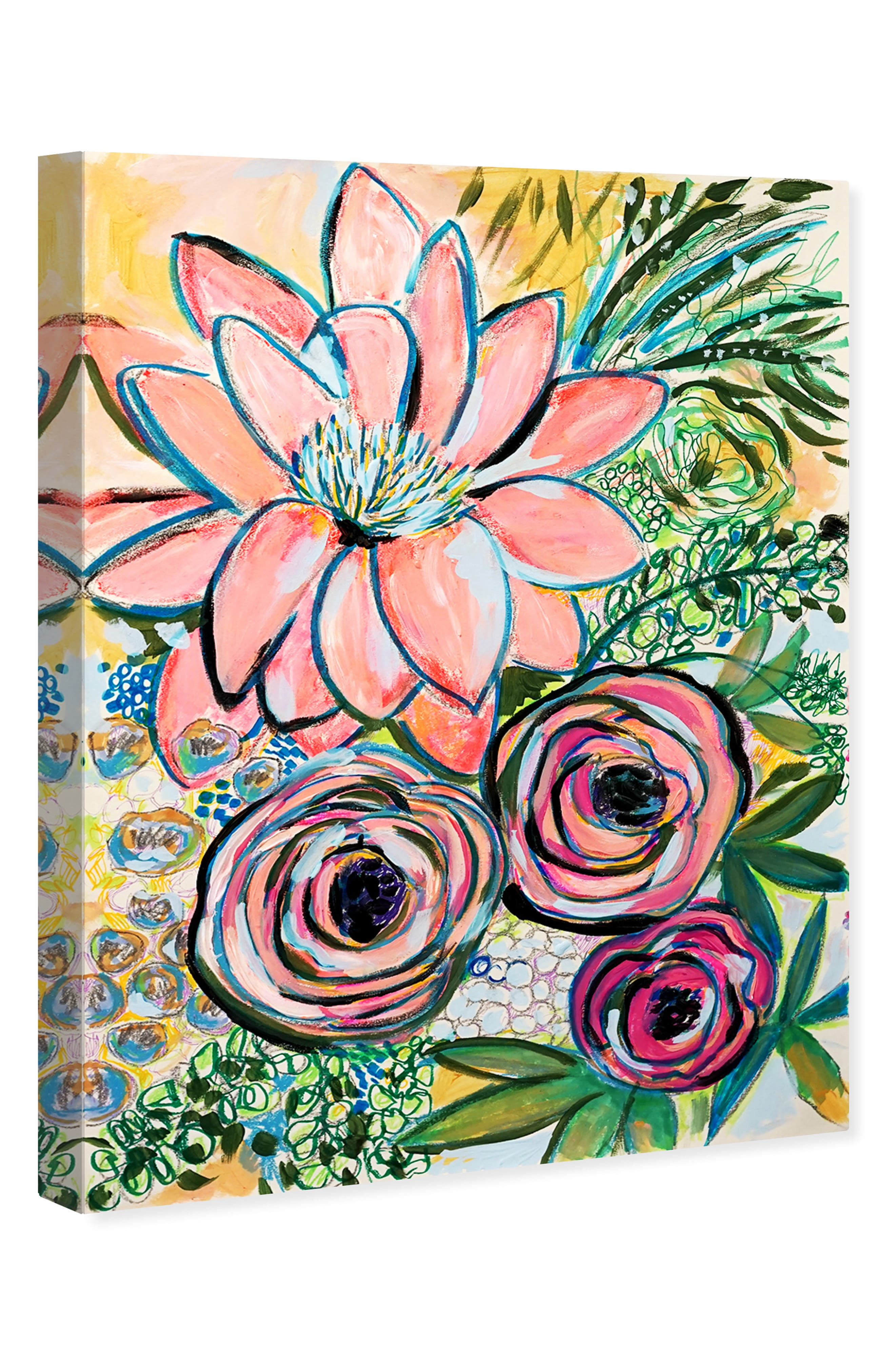 OLIVER GAL, Peonies Party of 2 Canvas Wall Art, Alternate thumbnail 4, color, GREEN PINK