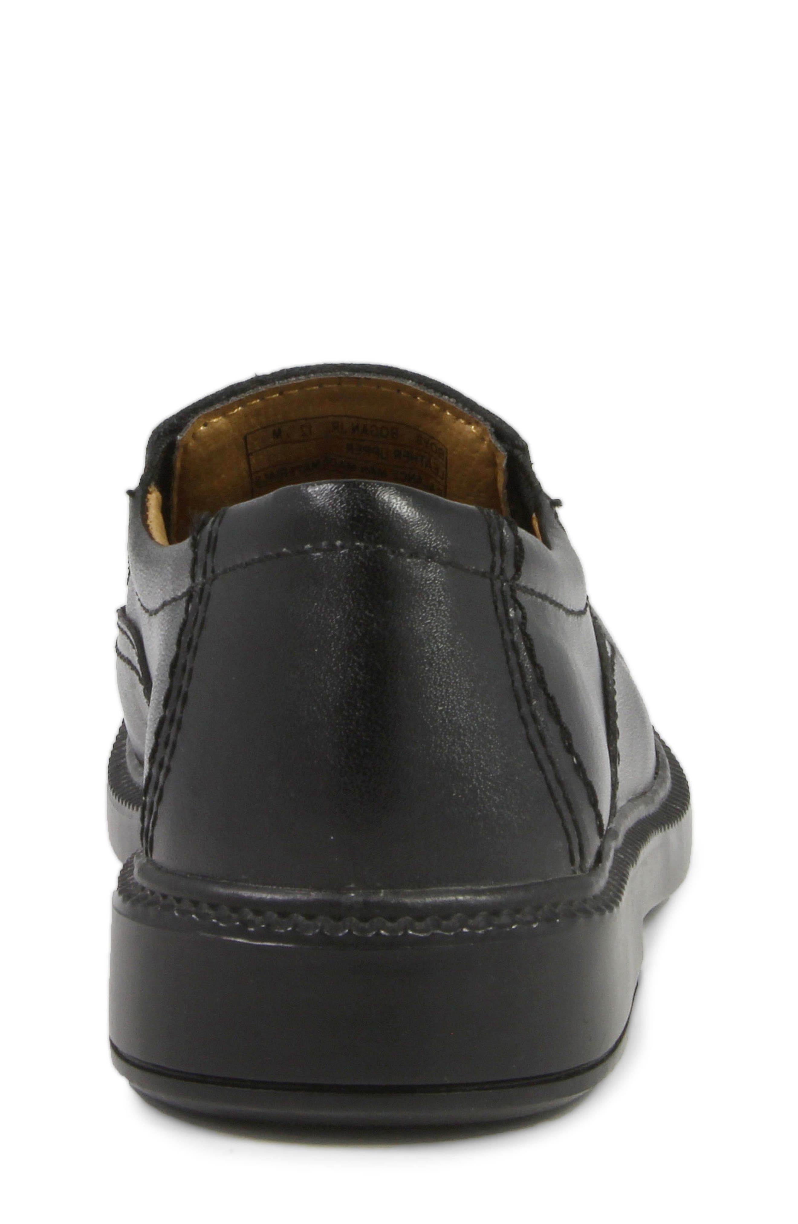 FLORSHEIM, 'Bogan' Slip-On, Alternate thumbnail 7, color, BLACK