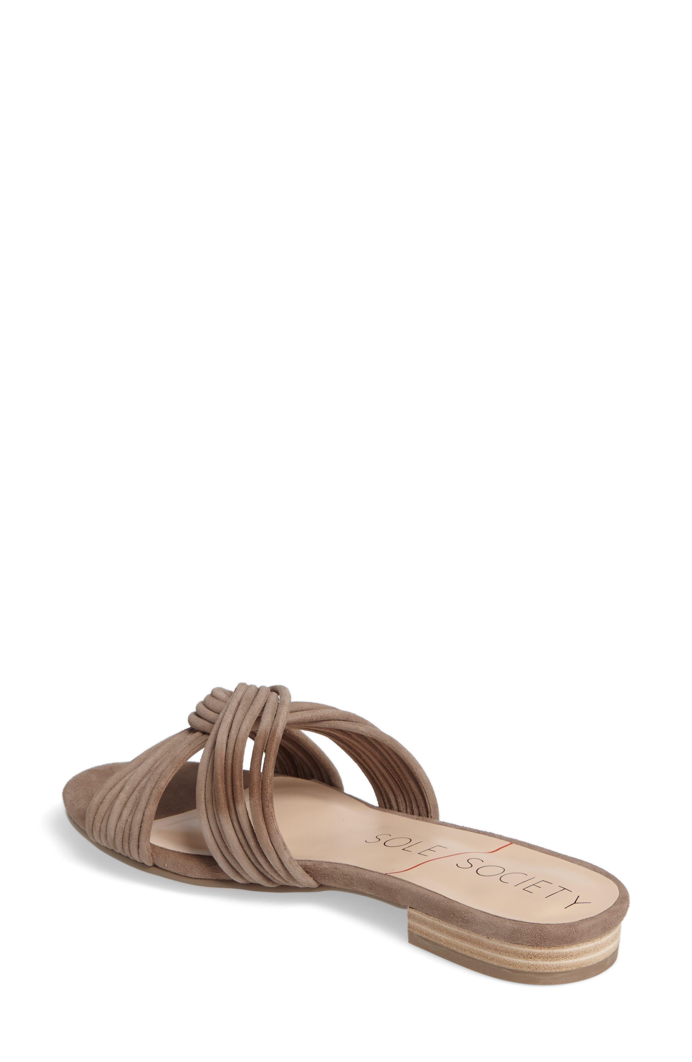 SOLE SOCIETY, Dahlia Flat Sandal, Alternate thumbnail 2, color, 240