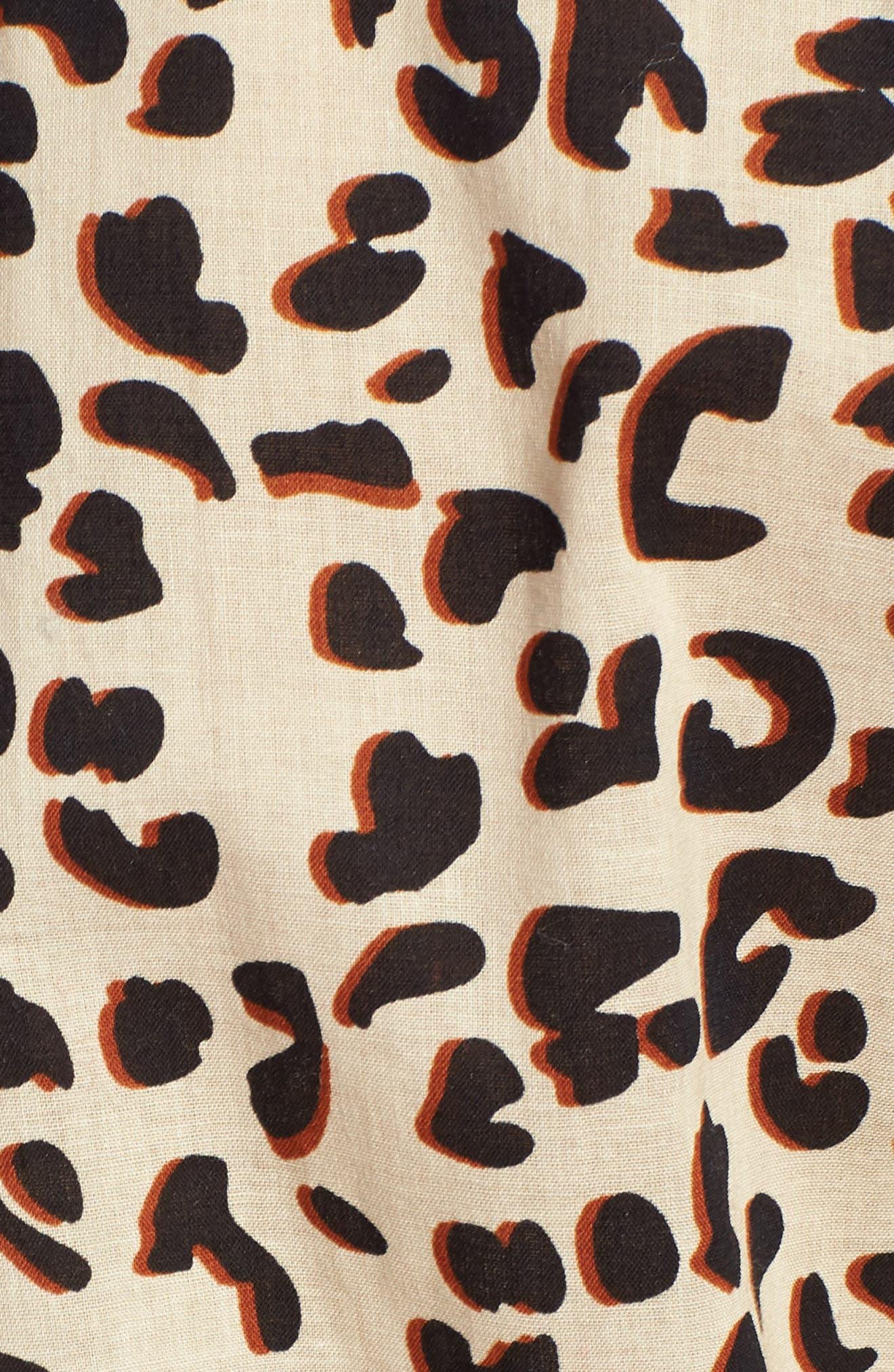 1901, Cotton Voile Blouse, Alternate thumbnail 5, color, BEIGE SHADOW LEOPARD