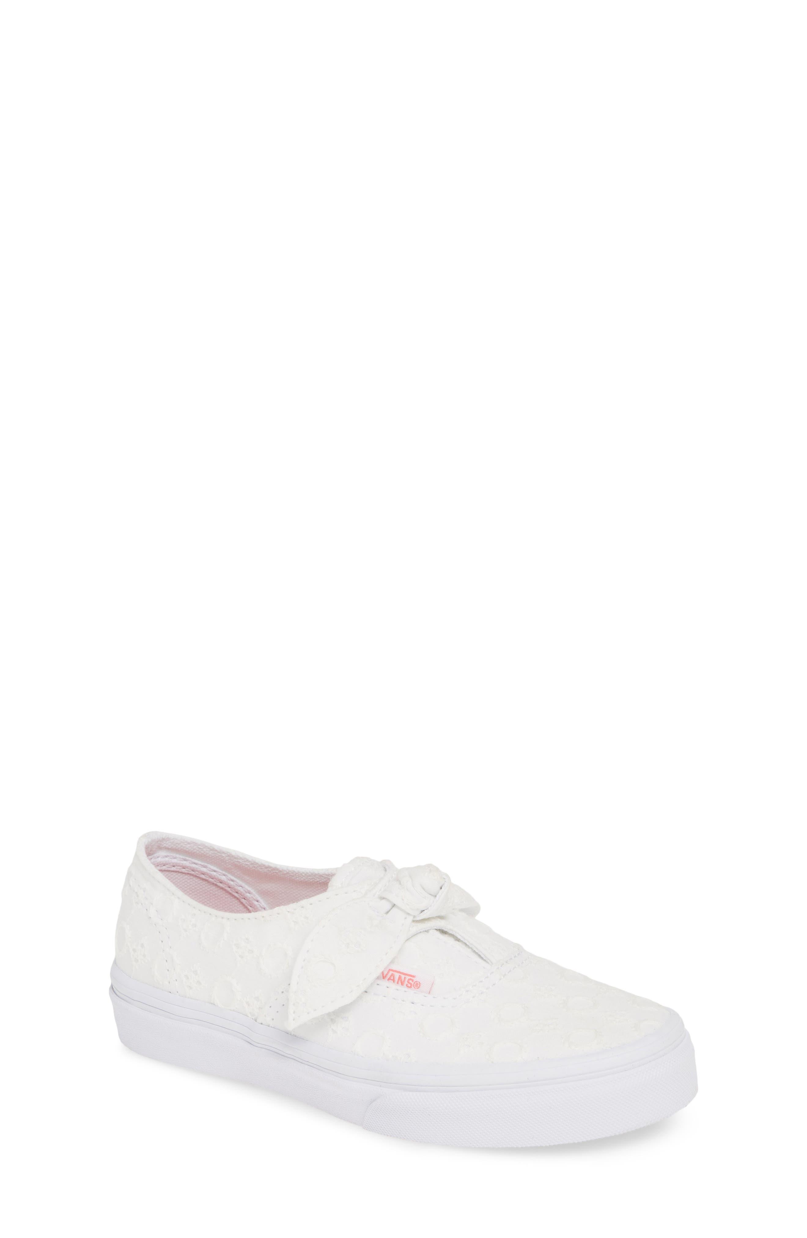Toddler Girls Vans Authentic Knot SlipOn Sneaker Size 6 M  White