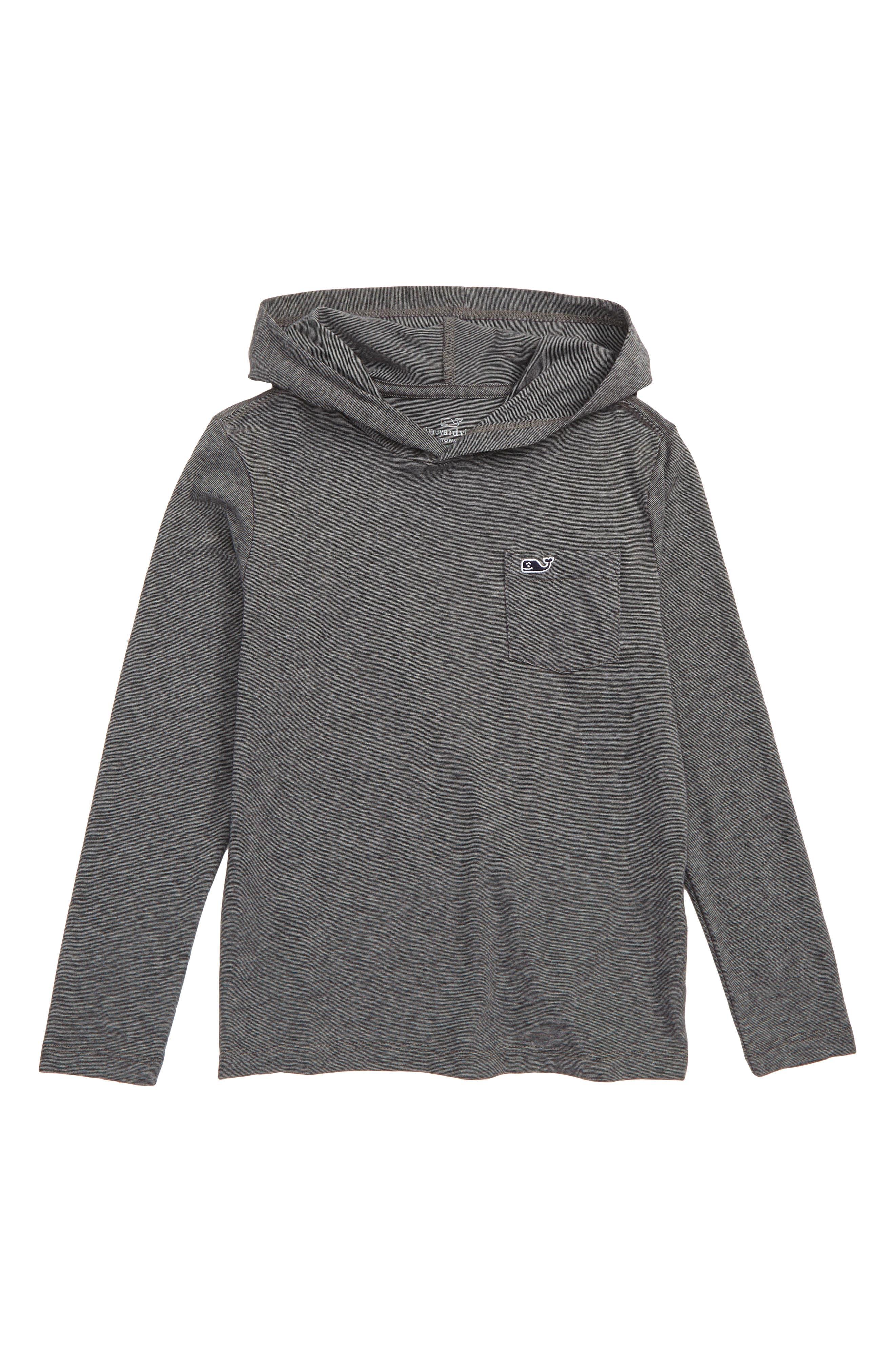 Boys Vineyard Vines Edgartown Performance Hooded TShirt Size 6  Grey