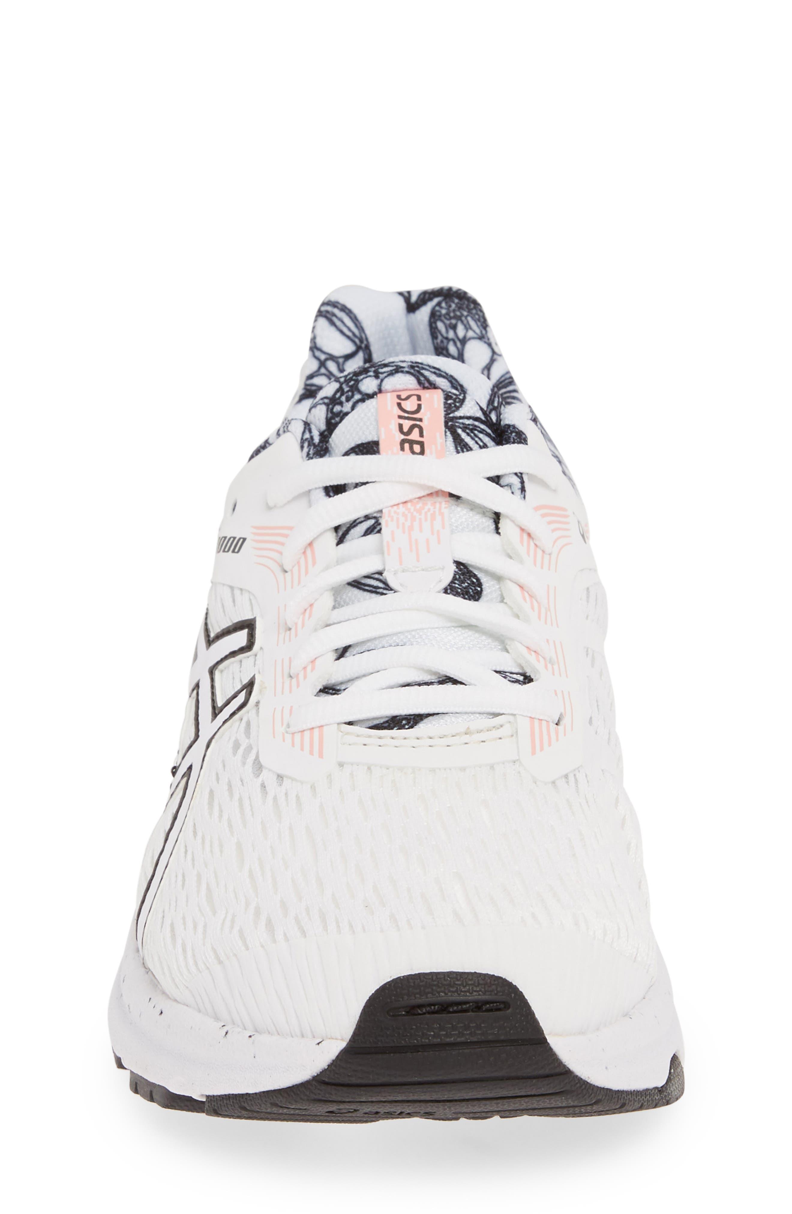 ASICS<SUP>®</SUP>, GT 1000 7 Running Shoe, Alternate thumbnail 4, color, WHITE/ WHITE