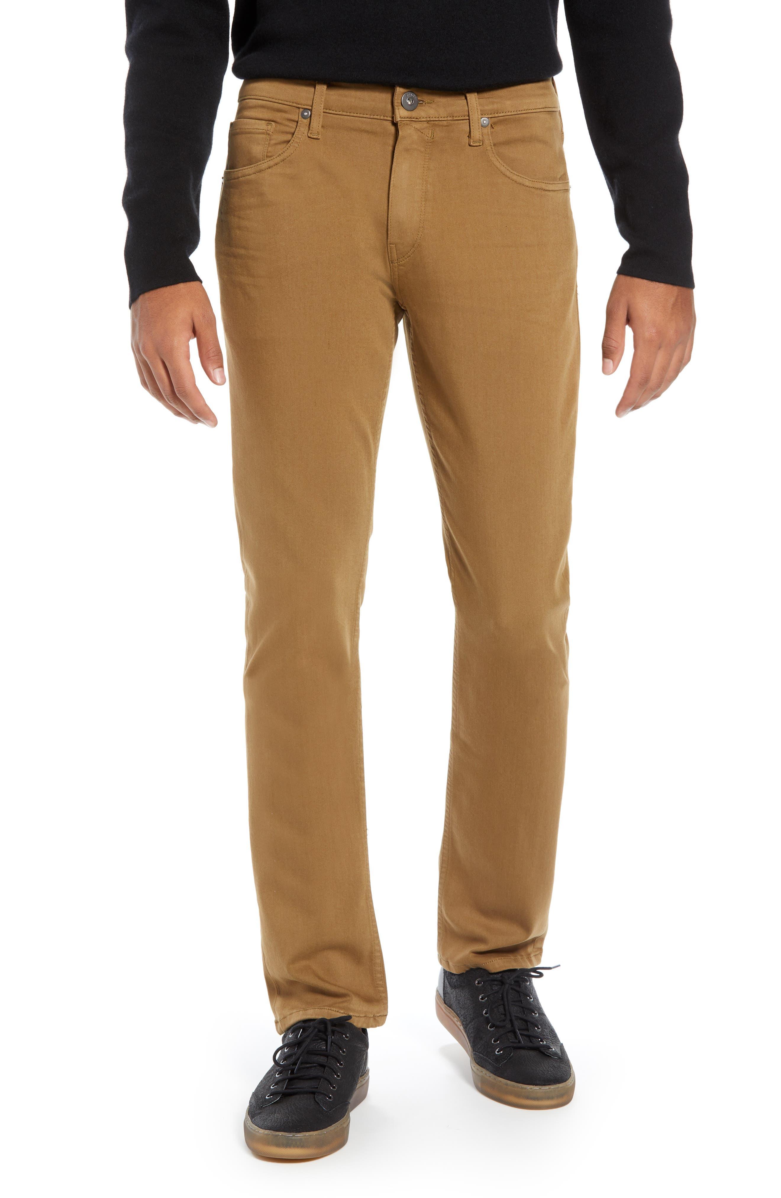 PAIGE, Transcend - Federal Slim Straight Leg Jeans, Main thumbnail 1, color, LAUREL TAN