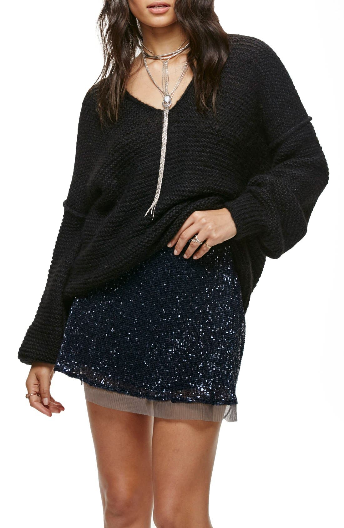 FREE PEOPLE, All Mine Sweater, Main thumbnail 1, color, 001
