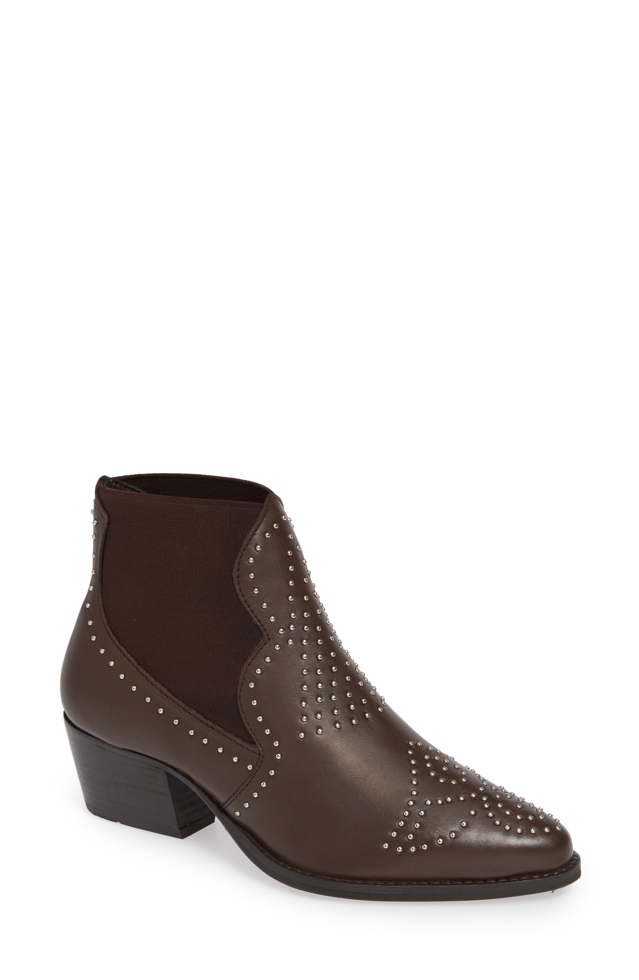 Charles By Charles David Zach Studded Bootie- Brown