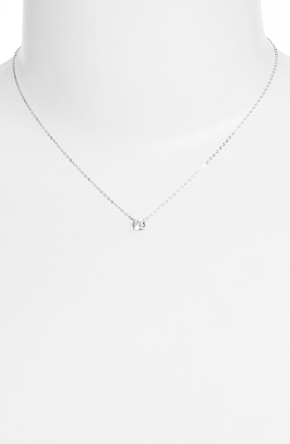 NADRI, Cubic Zirconia Pendant Necklace, Alternate thumbnail 2, color, 040