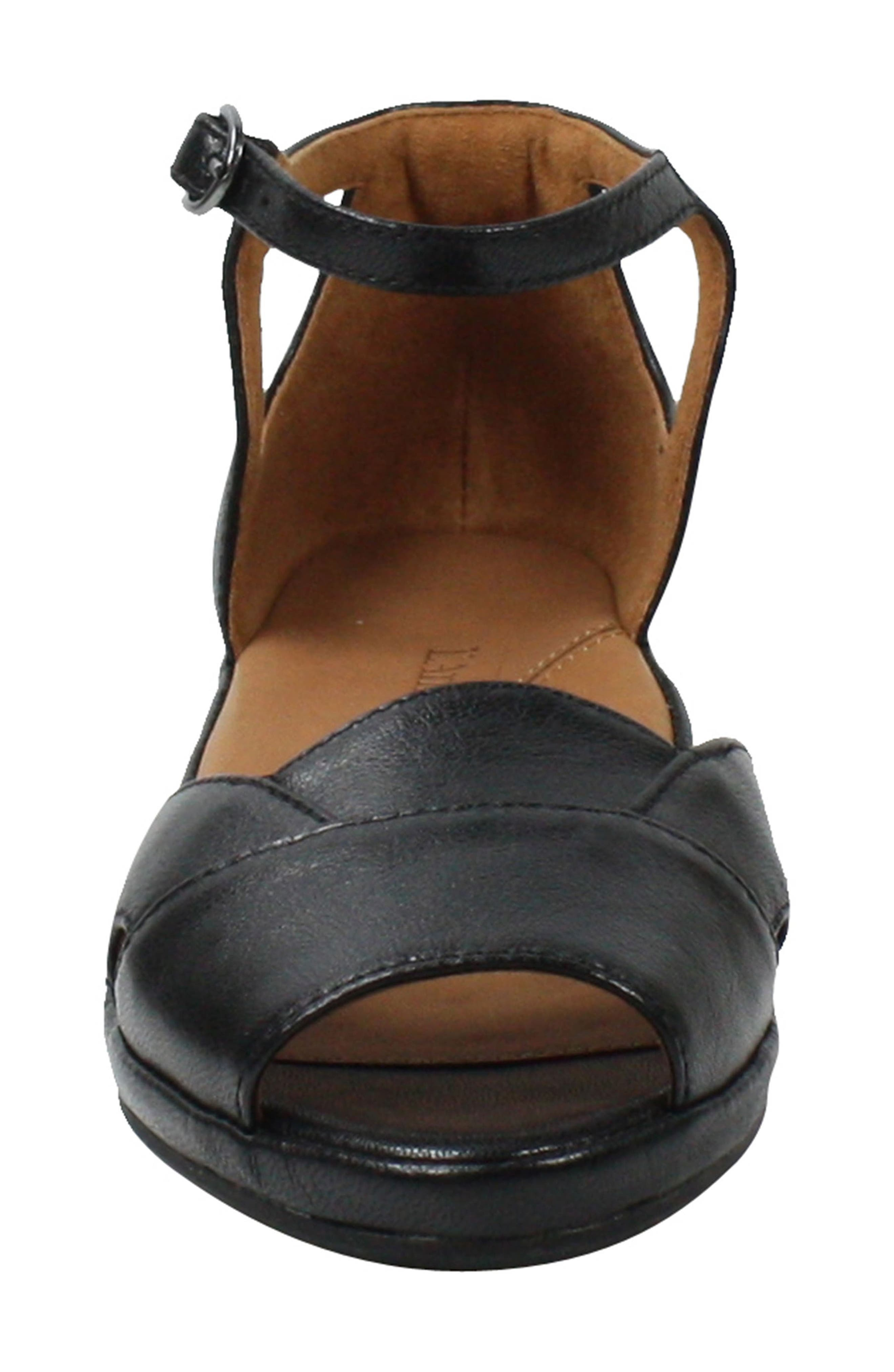 L'AMOUR DES PIEDS, Betterton Sandal, Alternate thumbnail 4, color, BLACK LEATHER