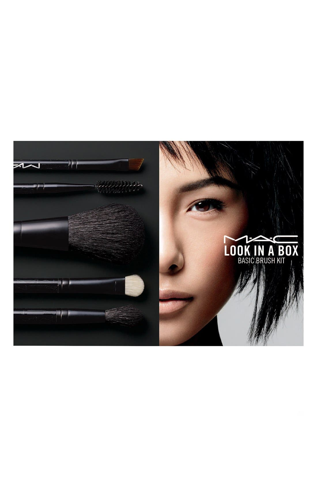 MAC COSMETICS, M·A·C 'Look in a Box - Basic Brush' Kit, Alternate thumbnail 2, color, 000